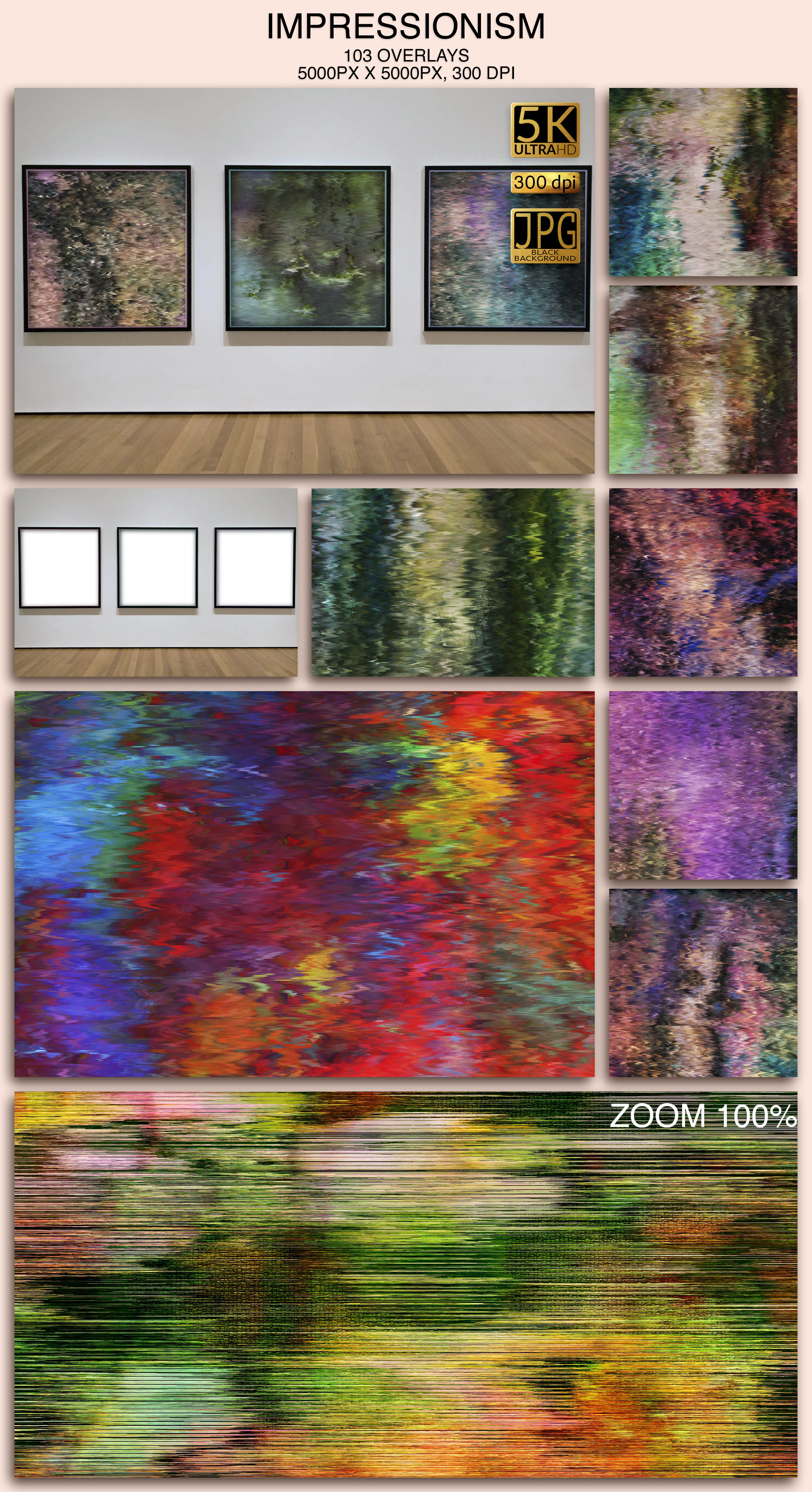 2006 Overlays Photoshop Bundle - Impressionism Preview