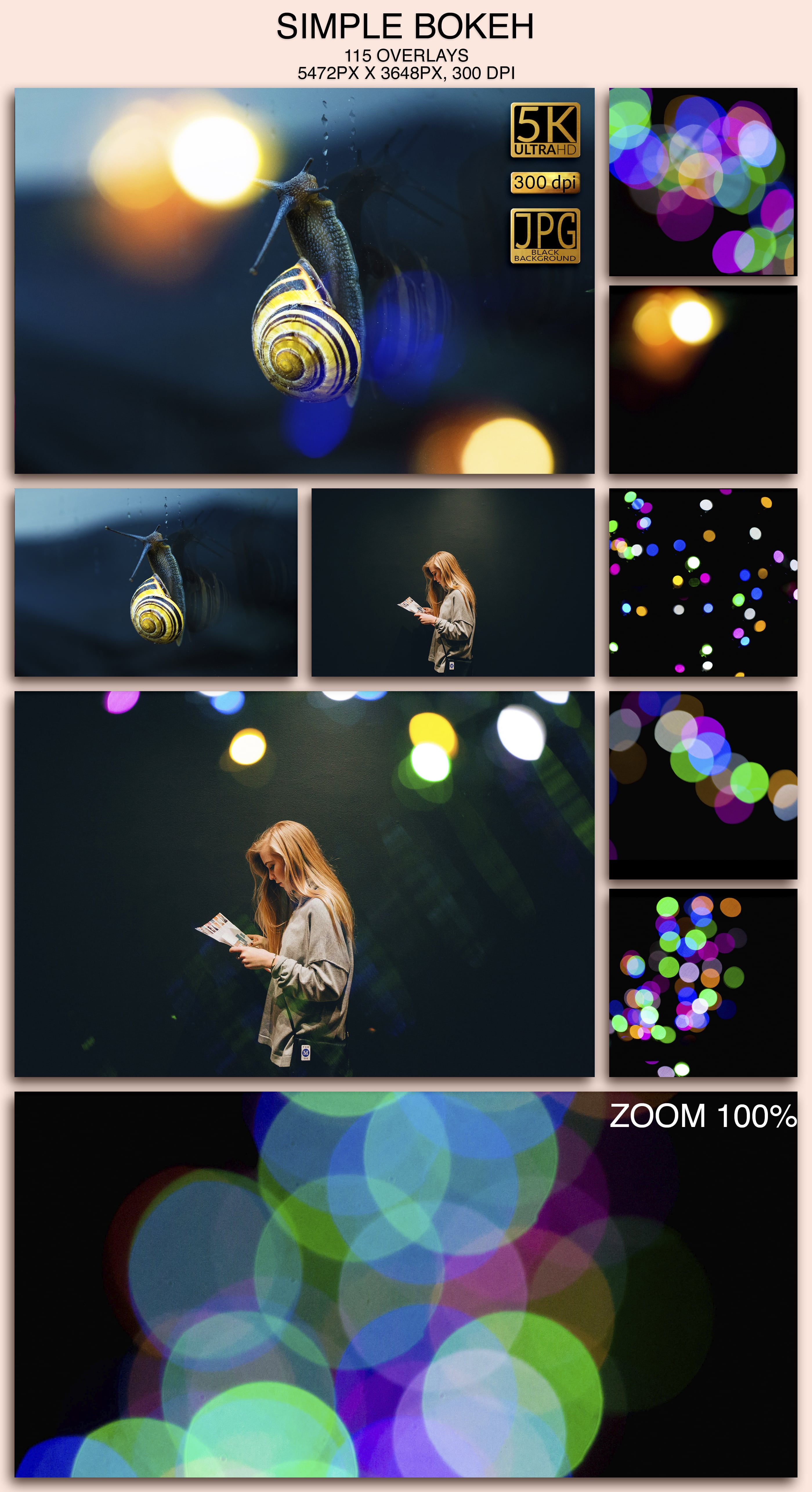 115 Simple Bokeh Overlays