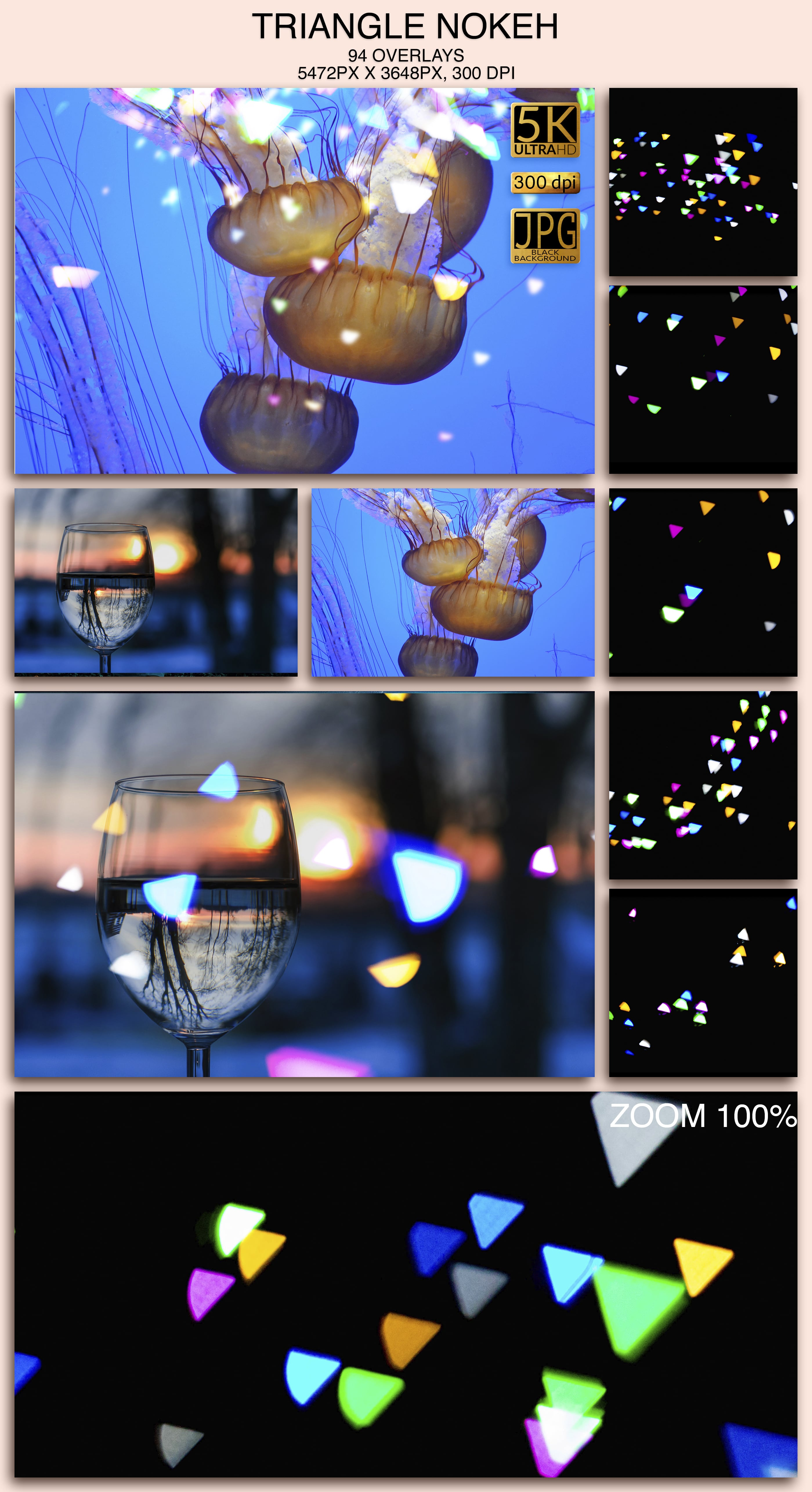 2006 Overlays Photoshop Bundle - TriangleBokeh Preview