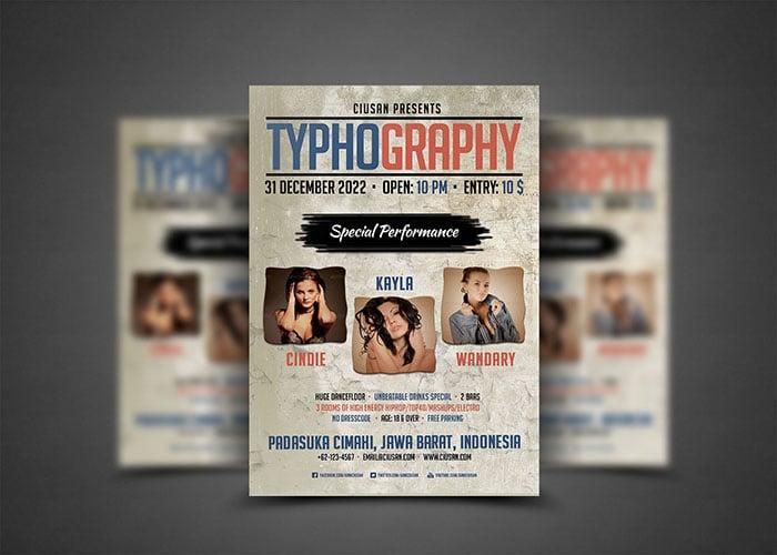Typography style.