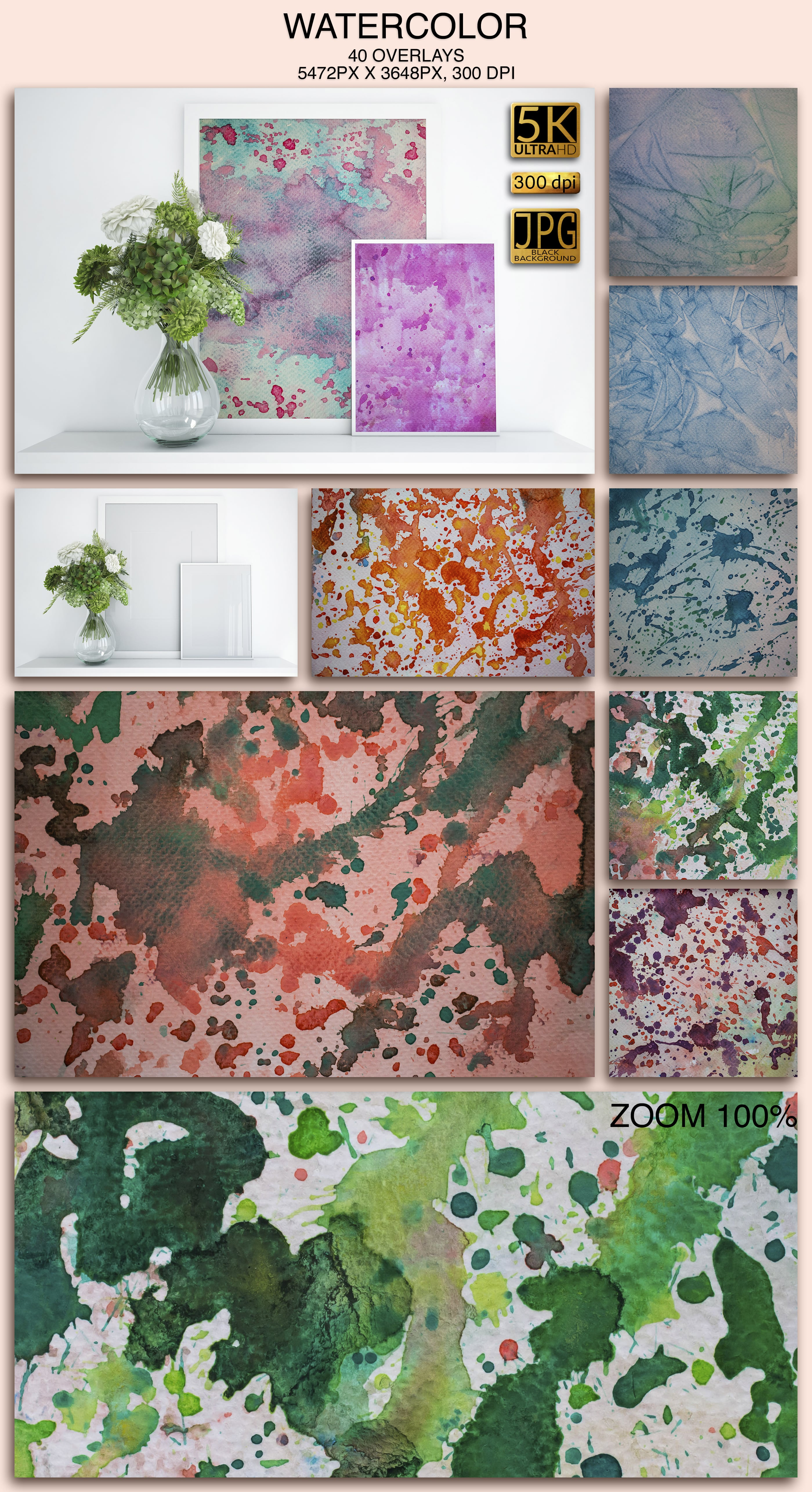 2006 Overlays Photoshop Bundle - Watercolor