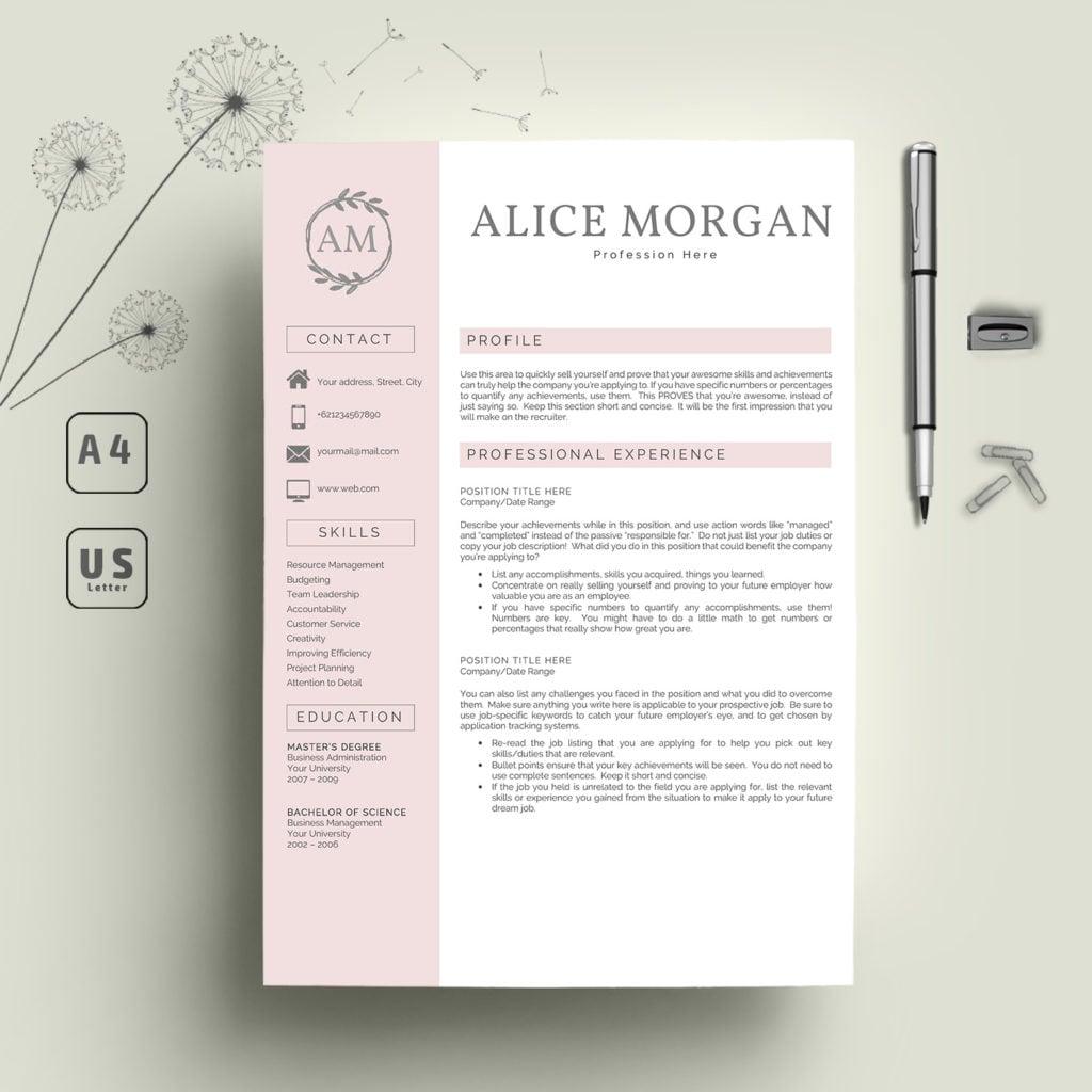 Clean Resume Template   CV