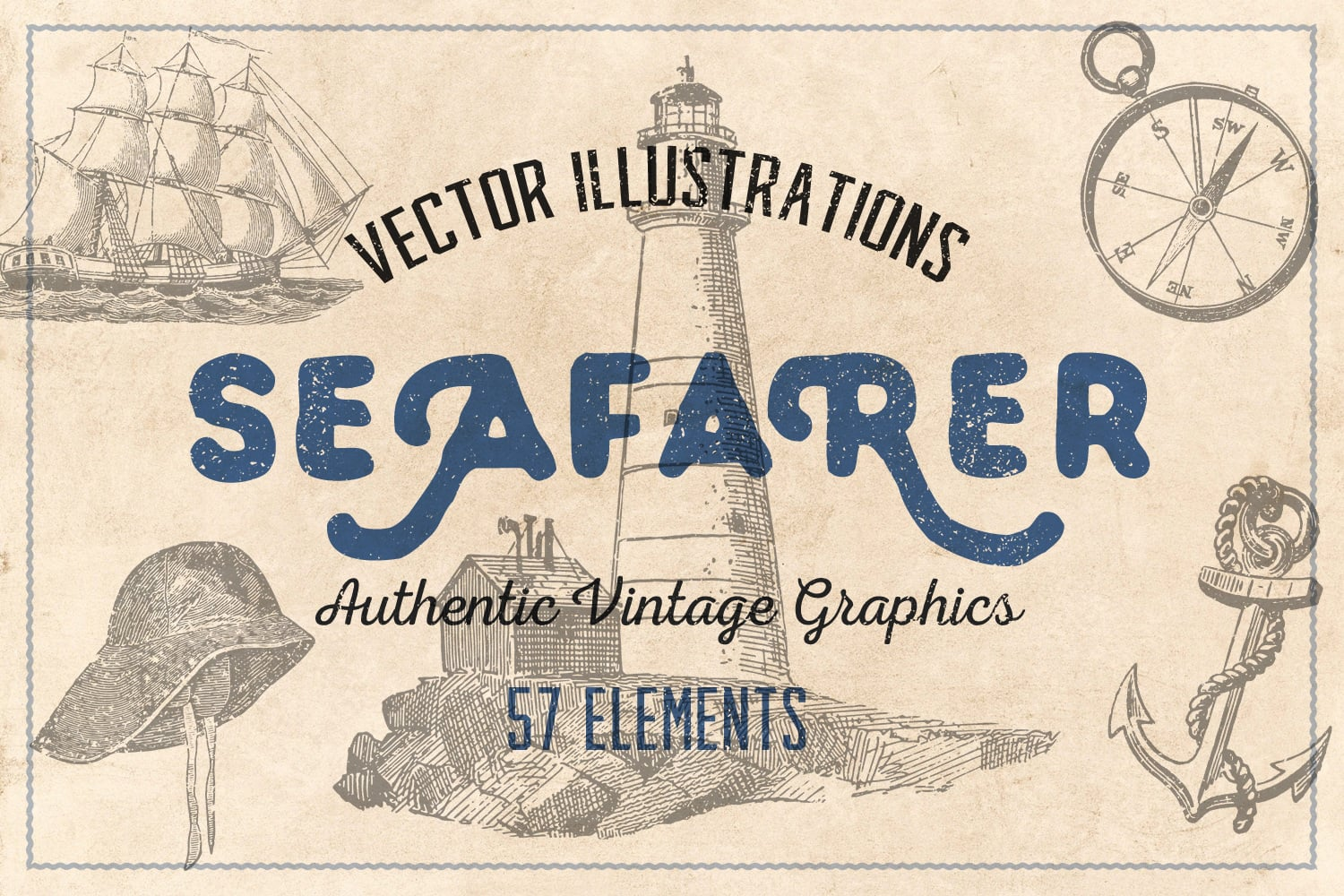 1000 Vintage Illustrations with 80% OFF - seafarer cover