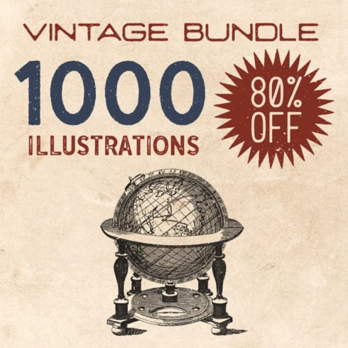 1000 Vintage Illustrations with 80% OFF - square 1 490x490
