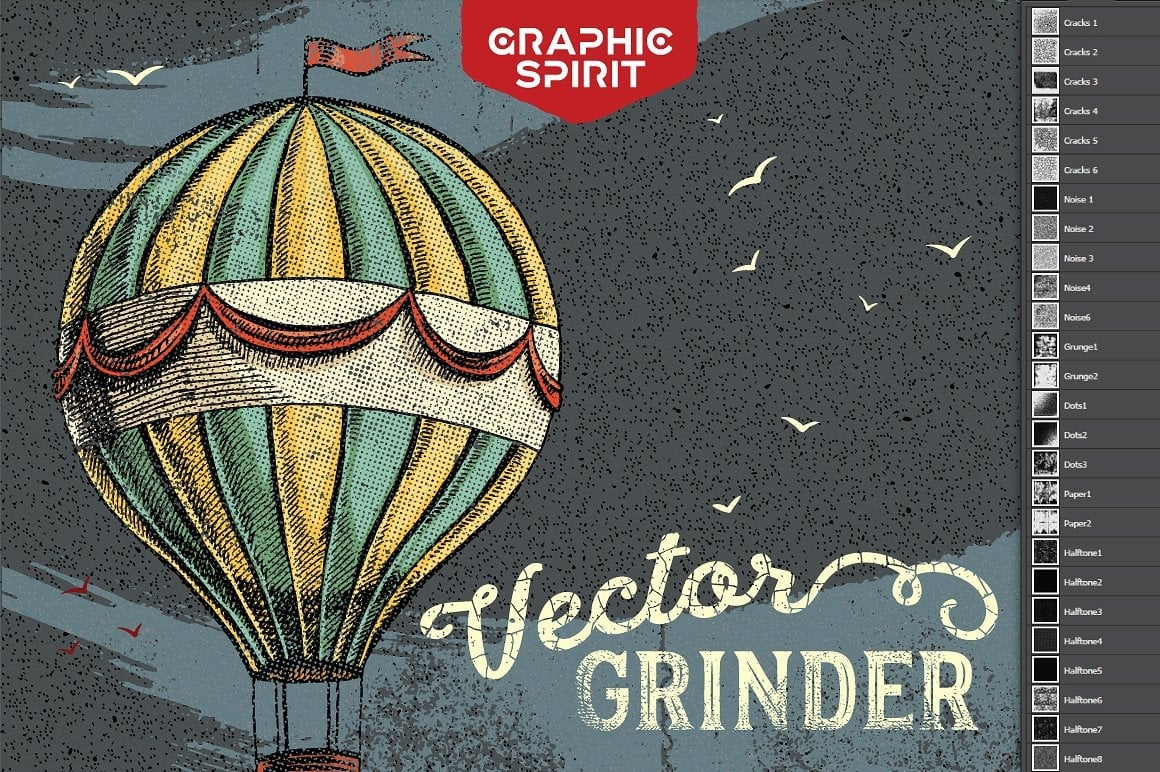 Vector GRINDER Toolkit: Retro Actions and Textures - just $19 - 0