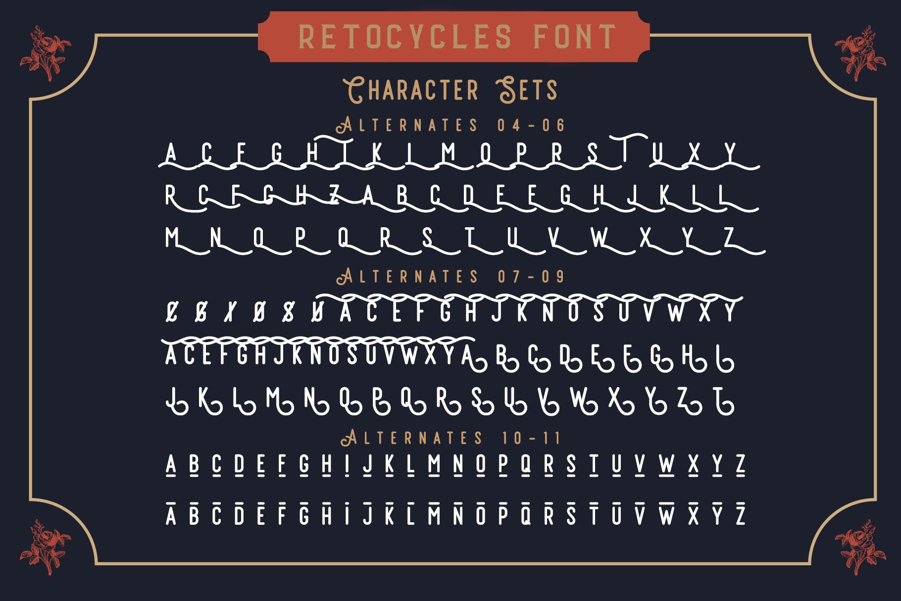 Vintage Font Bundle: 26 fonts + 100 extras - just $19 - 005 min 1