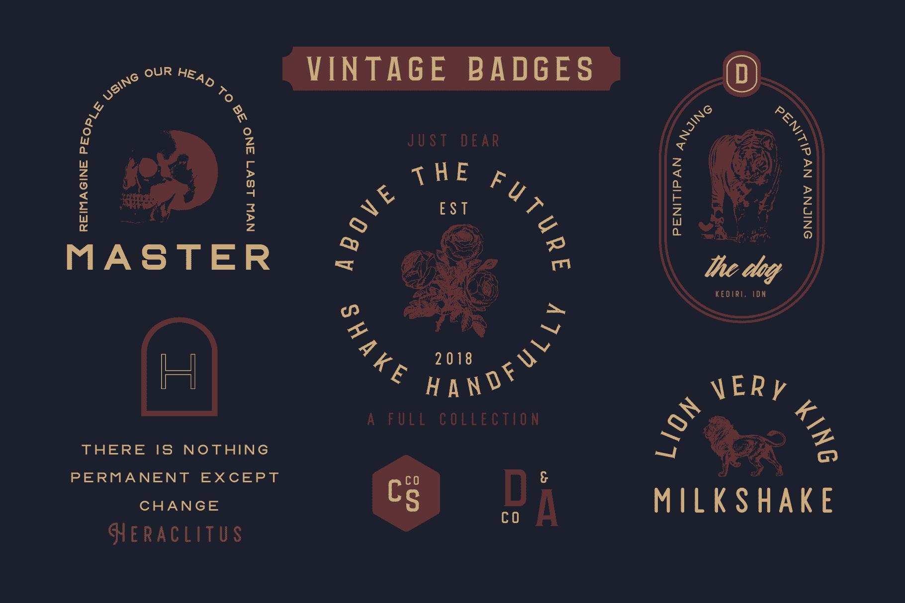 Vintage Font Bundle: 26 fonts + 100 extras - just $19 - 018 min 1