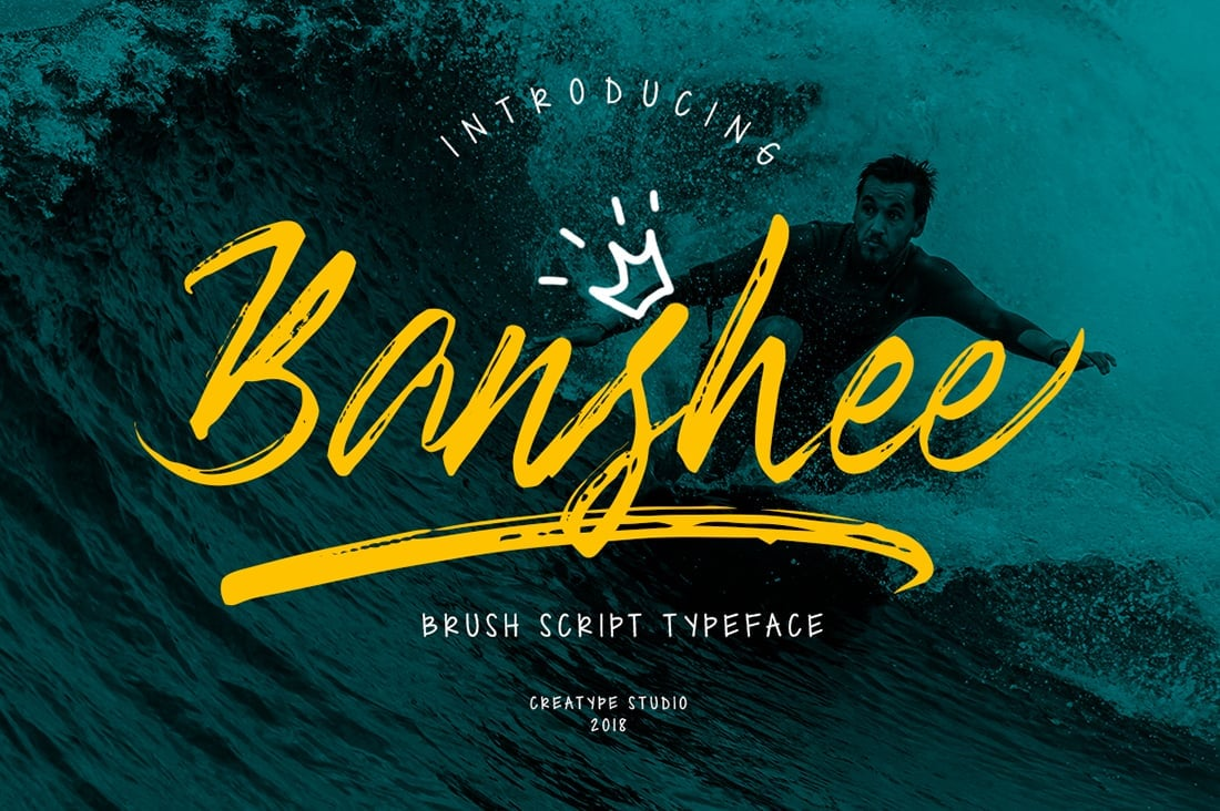 Hand Lettered Fonts - 16 Stunning Fonts - OTF, TTF, WOFF. Just $29! - 03 Banshee Preview 1