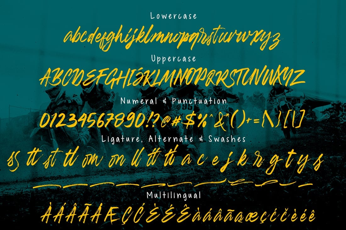 Hand Lettered Fonts - 16 Stunning Fonts - OTF, TTF, WOFF. Just $29! - 03 Banshee Preview 9