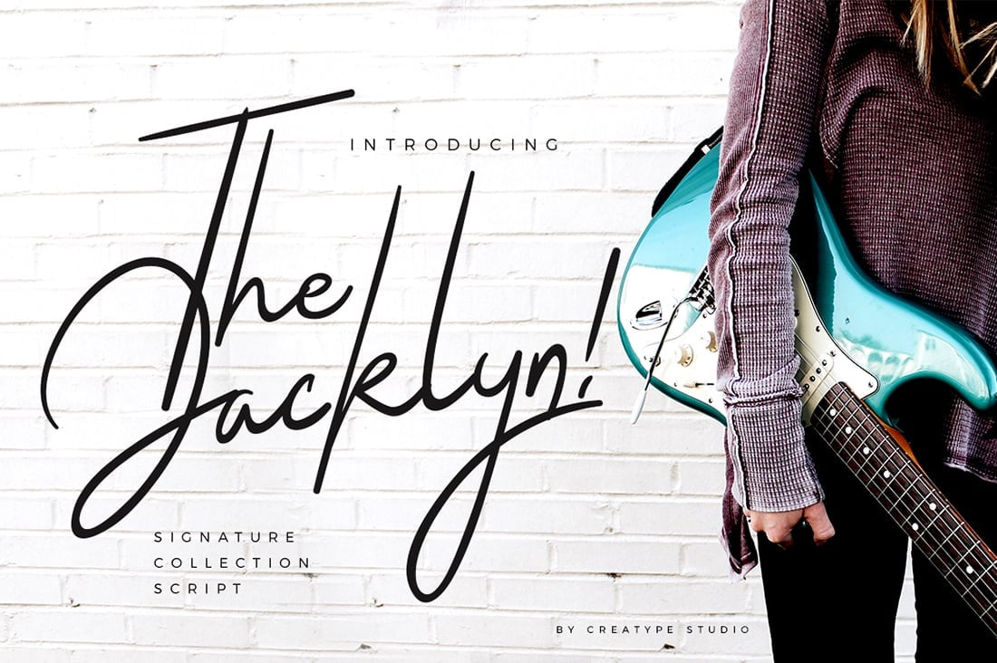 Hand Lettered Fonts - 16 Stunning Fonts - OTF, TTF, WOFF. Just $29! - 06 The Jacklyn Preview 1