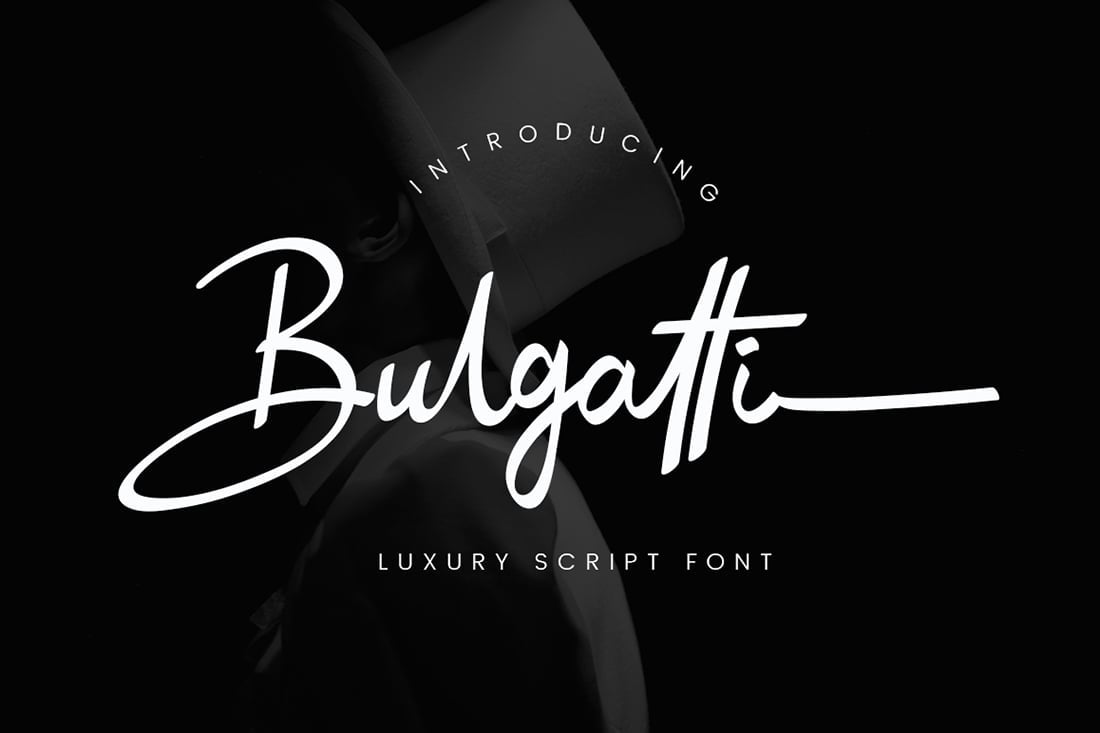 Hand Lettered Fonts - 16 Stunning Fonts - OTF, TTF, WOFF. Just $29! - 08 Bulgatti Preview 1