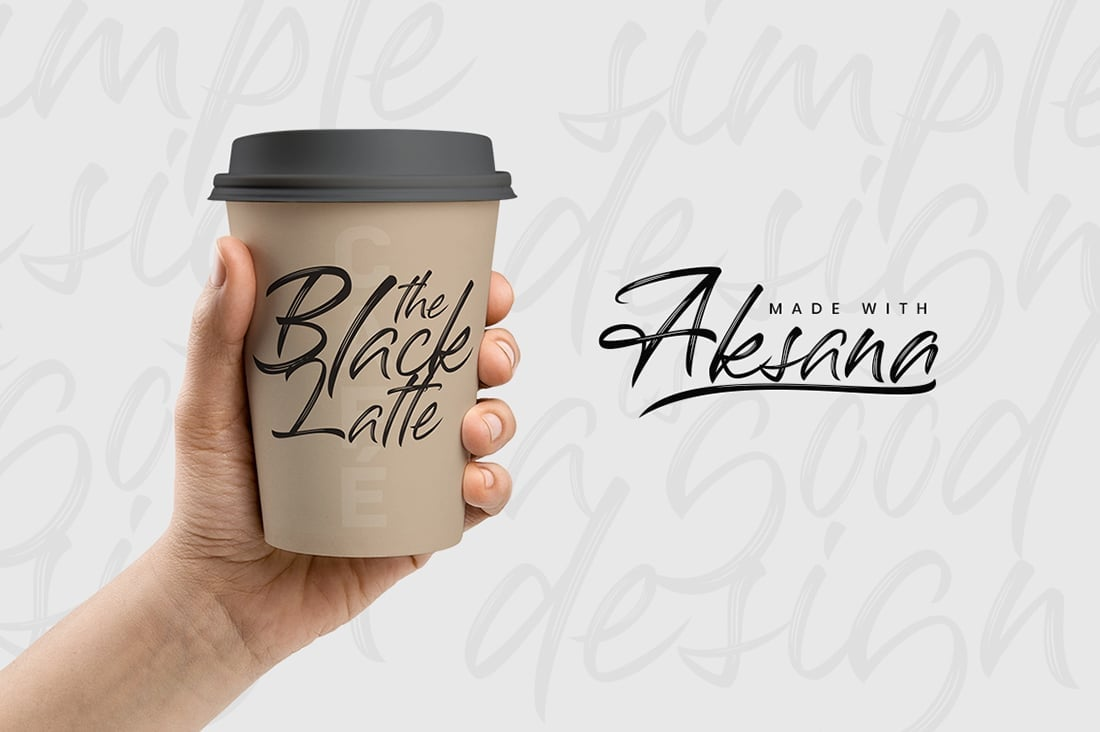 Hand Lettered Fonts - 16 Stunning Fonts - OTF, TTF, WOFF. Just $29! - 09 Aksana Preview 8