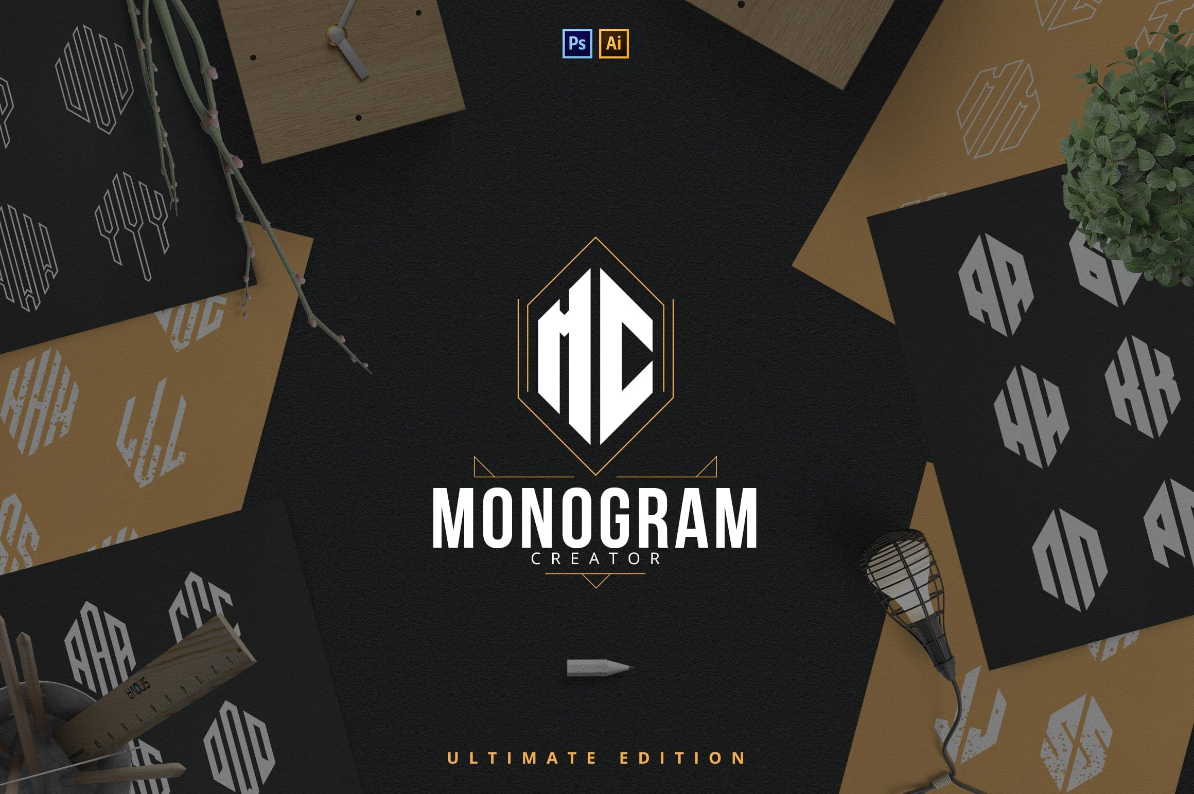 Ultimate Monogram Creator: 6-in-1 - just $14 - 1 5