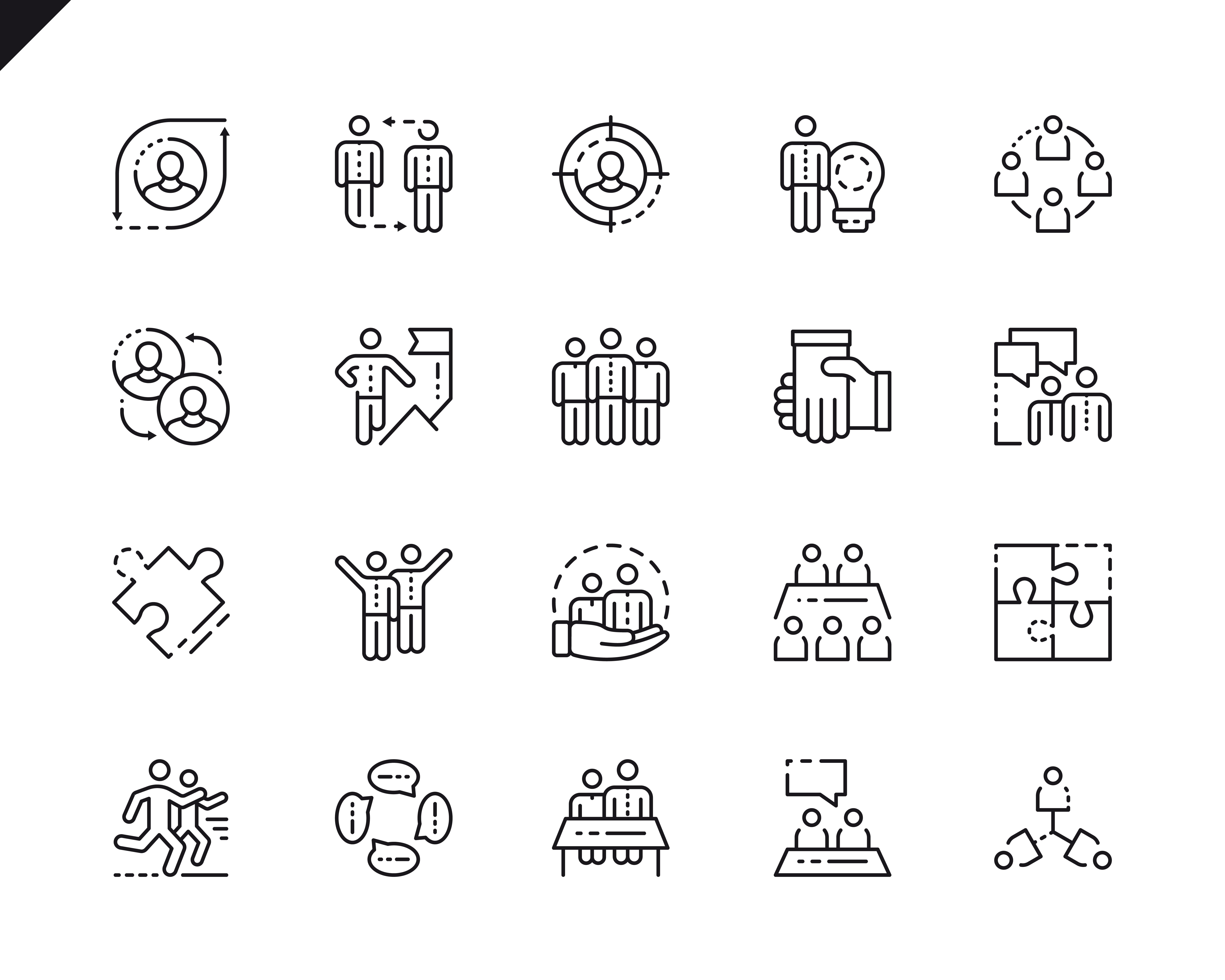 500 Business Line Icons - $22 ONLY - 1 7