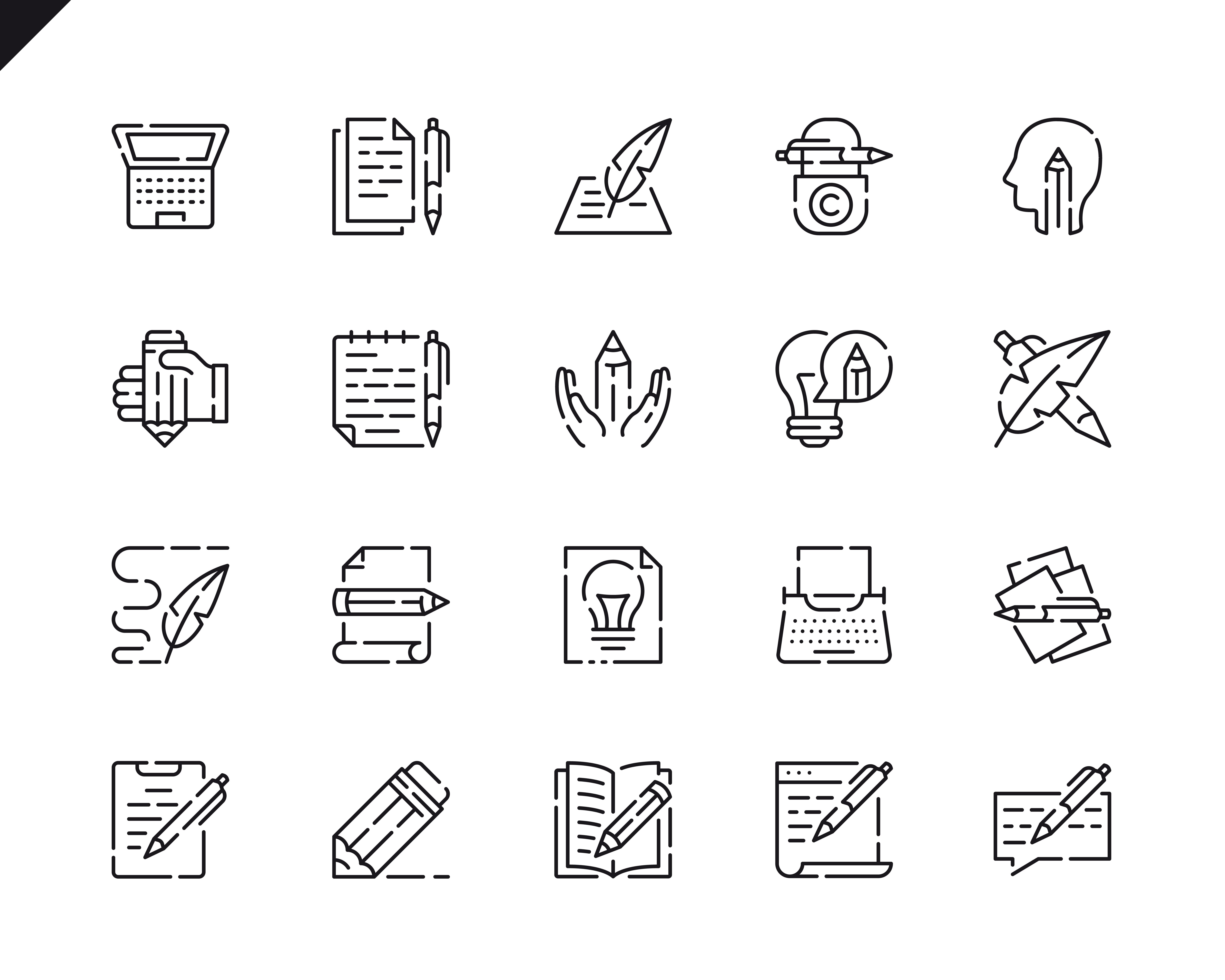 500 Business Line Icons - $22 ONLY - 10 4