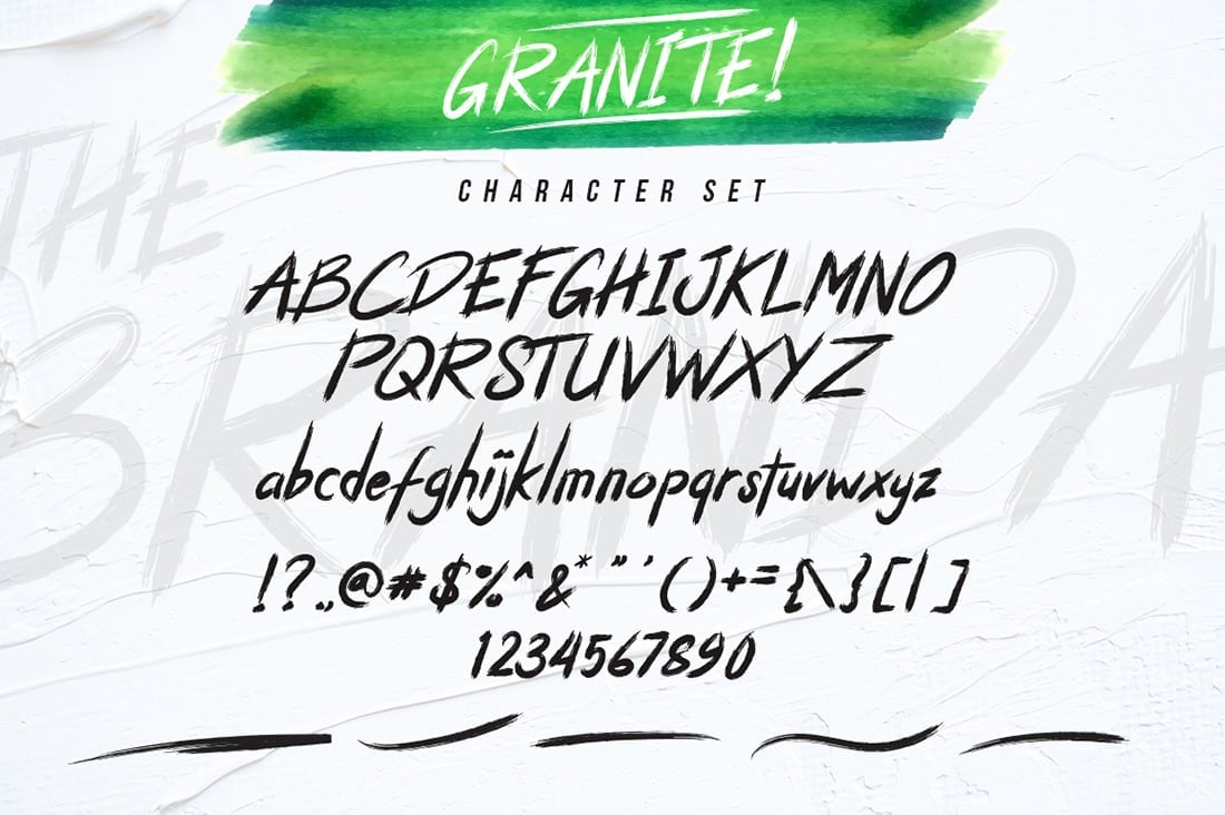 Hand Lettered Fonts - 16 Stunning Fonts - OTF, TTF, WOFF. Just $29! - 10 Granite Preview 8