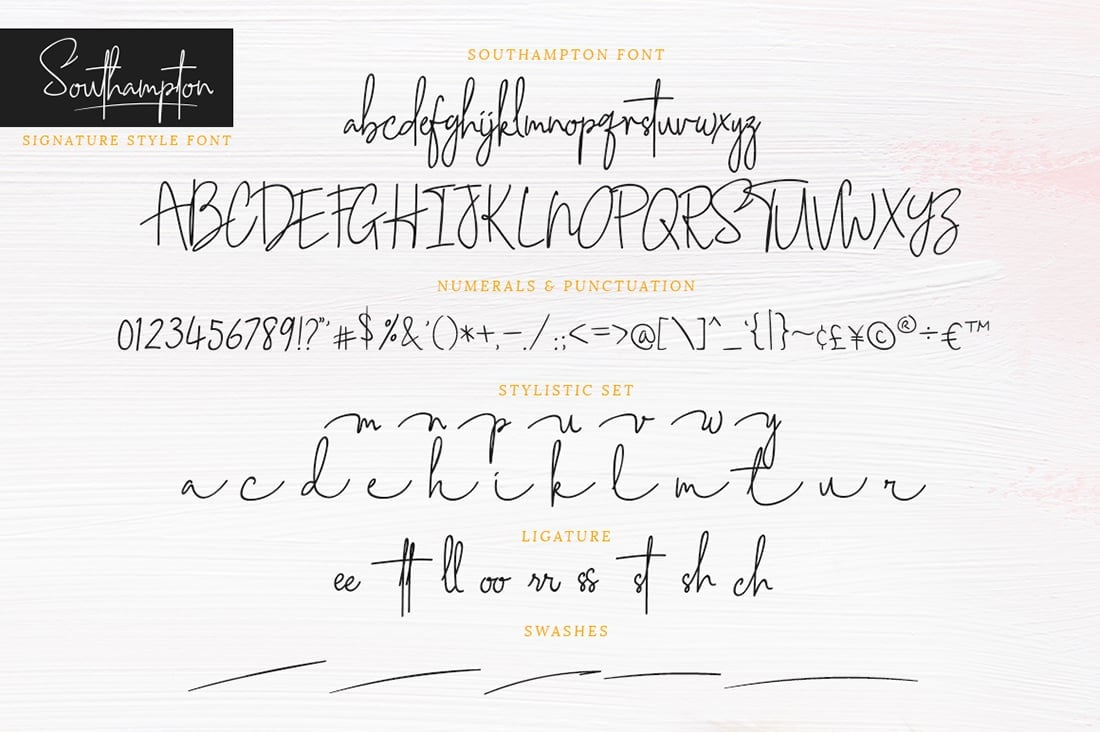 Hand Lettered Fonts - 16 Stunning Fonts - OTF, TTF, WOFF. Just $29! - 11 Southampton Dark Preview 6