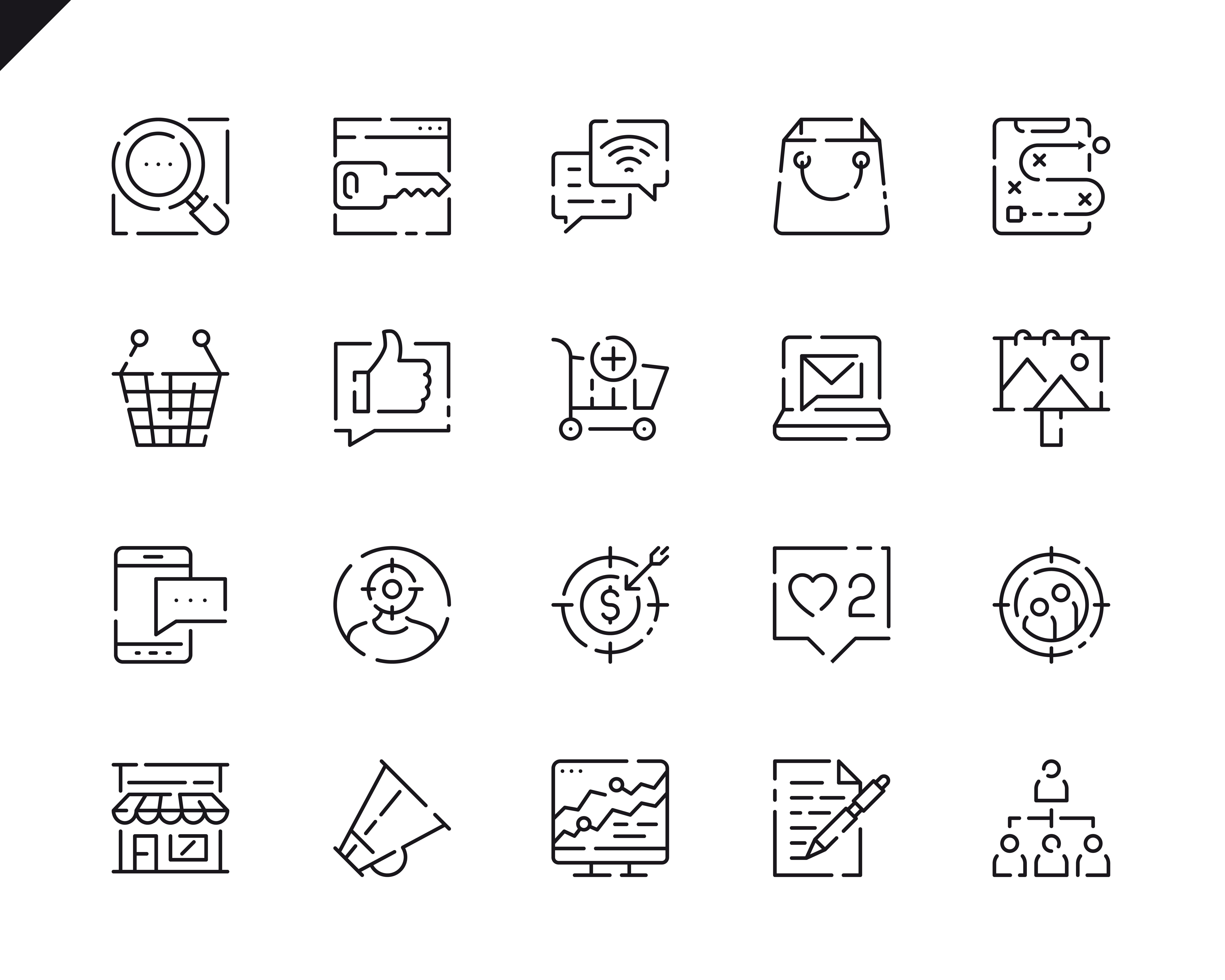 500 Business Line Icons - $22 ONLY - 12 4