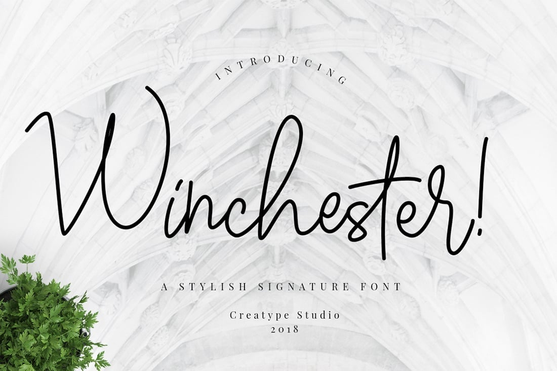 Hand Lettered Fonts - 16 Stunning Fonts - OTF, TTF, WOFF. Just $29! - 12 Winchester Preview 1