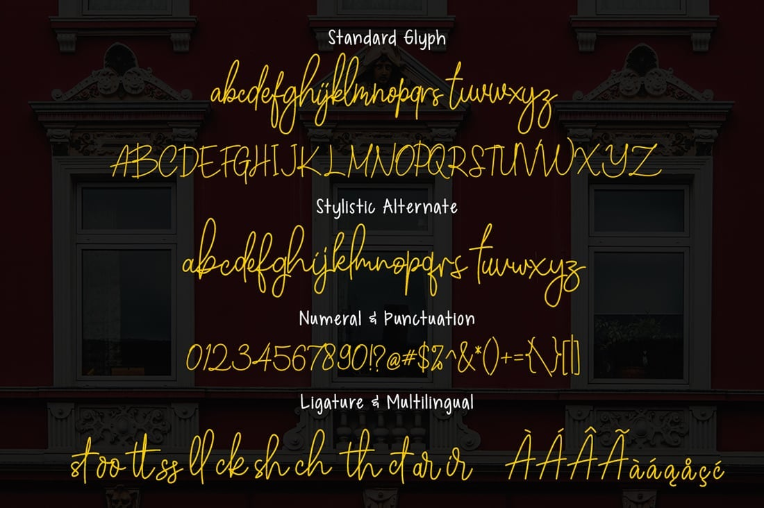 Hand Lettered Fonts - 16 Stunning Fonts - OTF, TTF, WOFF. Just $29! - 12 Winchester Preview 7