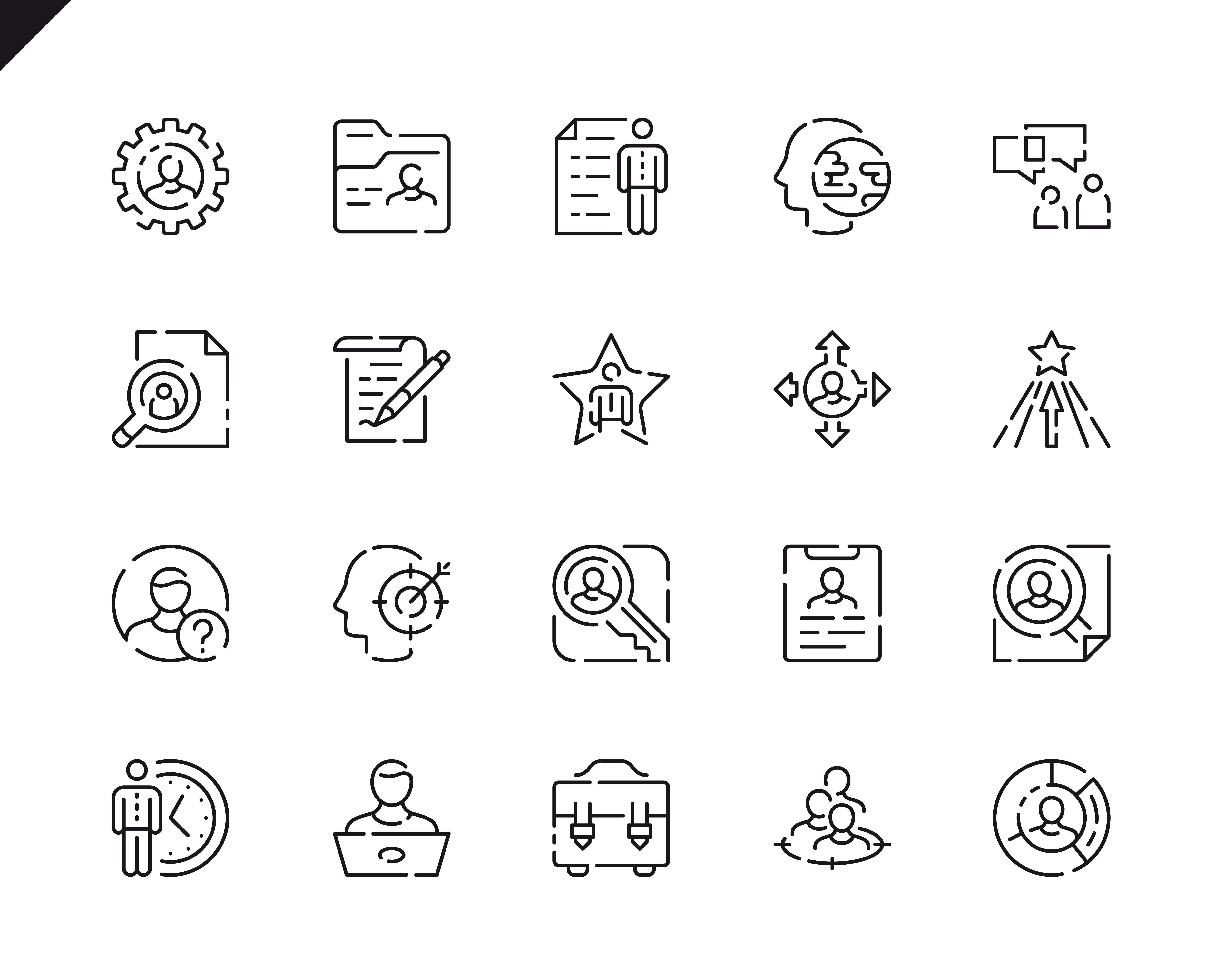 500 Business Line Icons - $22 ONLY - 13 4