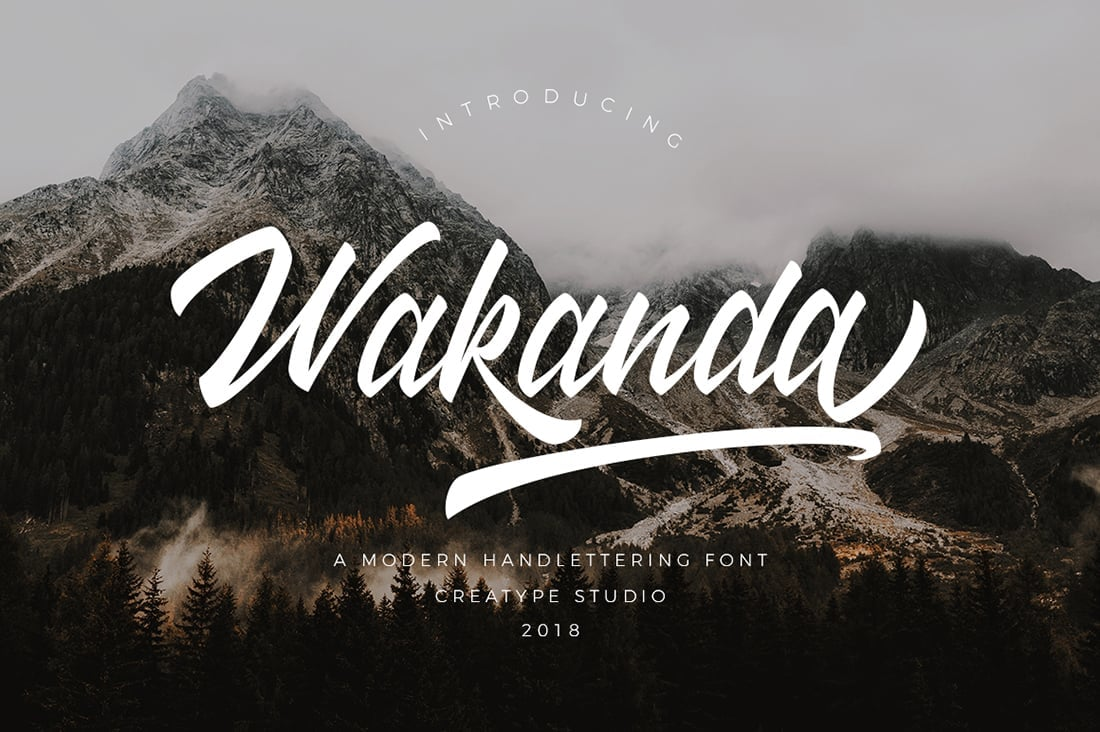 Hand Lettered Fonts - 16 Stunning Fonts - OTF, TTF, WOFF. Just $29! - 13 Wakanda Preview 1