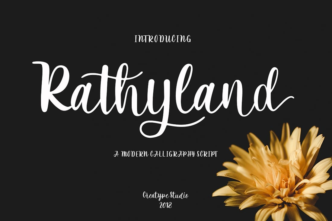 Hand Lettered Fonts - 16 Stunning Fonts - OTF, TTF, WOFF. Just $29! - 14 Rathyland Preview 1
