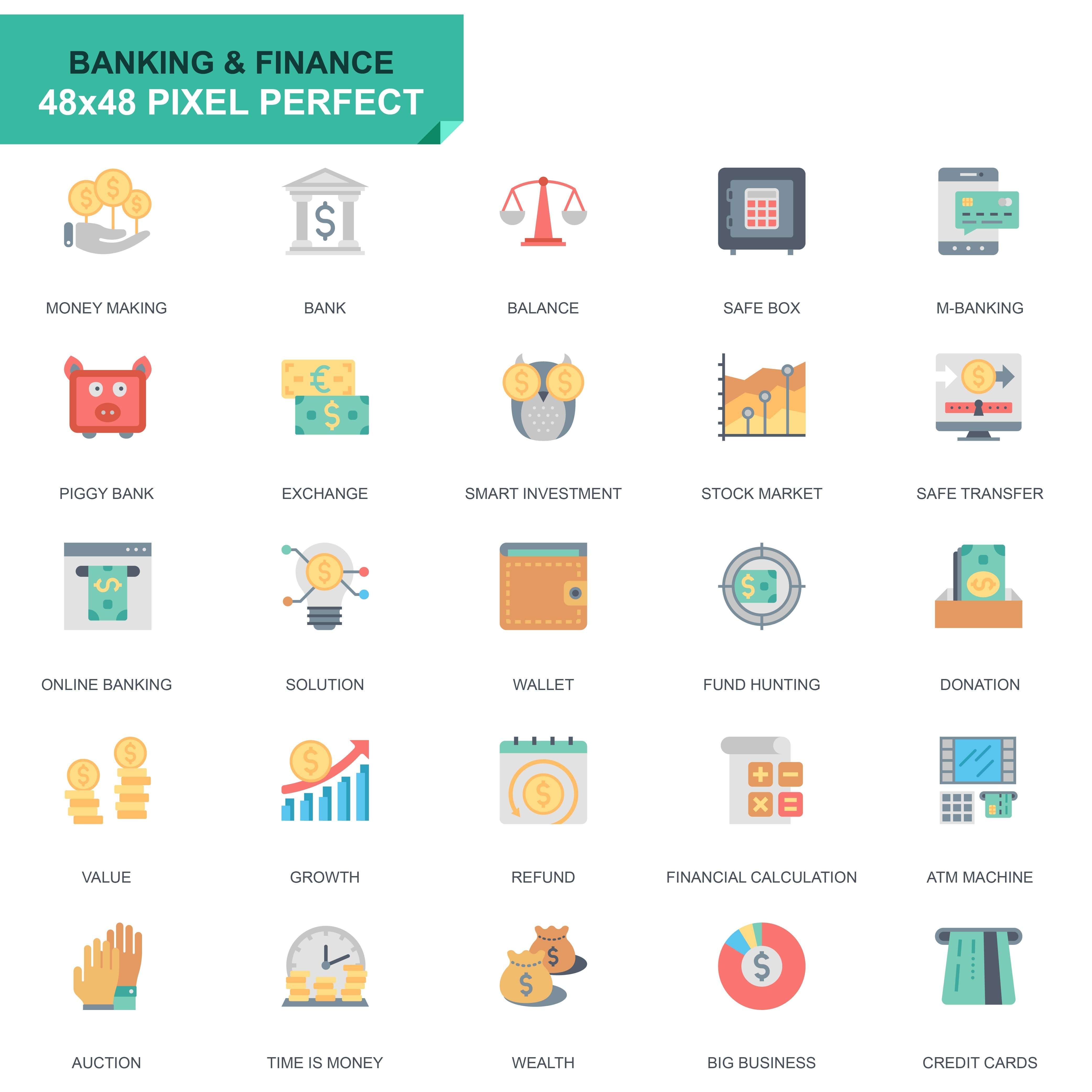 625 Flat Business Icons - just $24 - 15 2