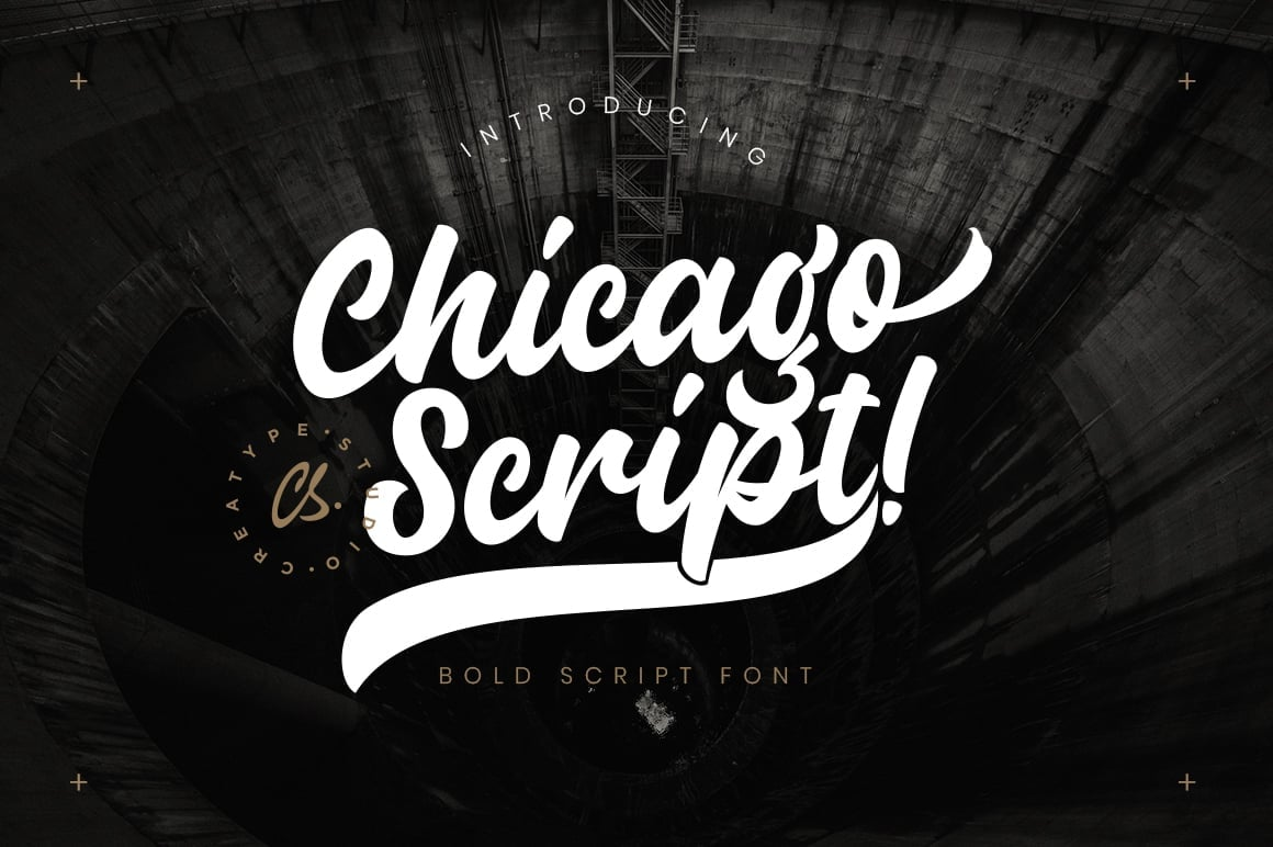 Hand Lettered Fonts - 16 Stunning Fonts - OTF, TTF, WOFF. Just $29! - 15 Chicago Script Preview 1