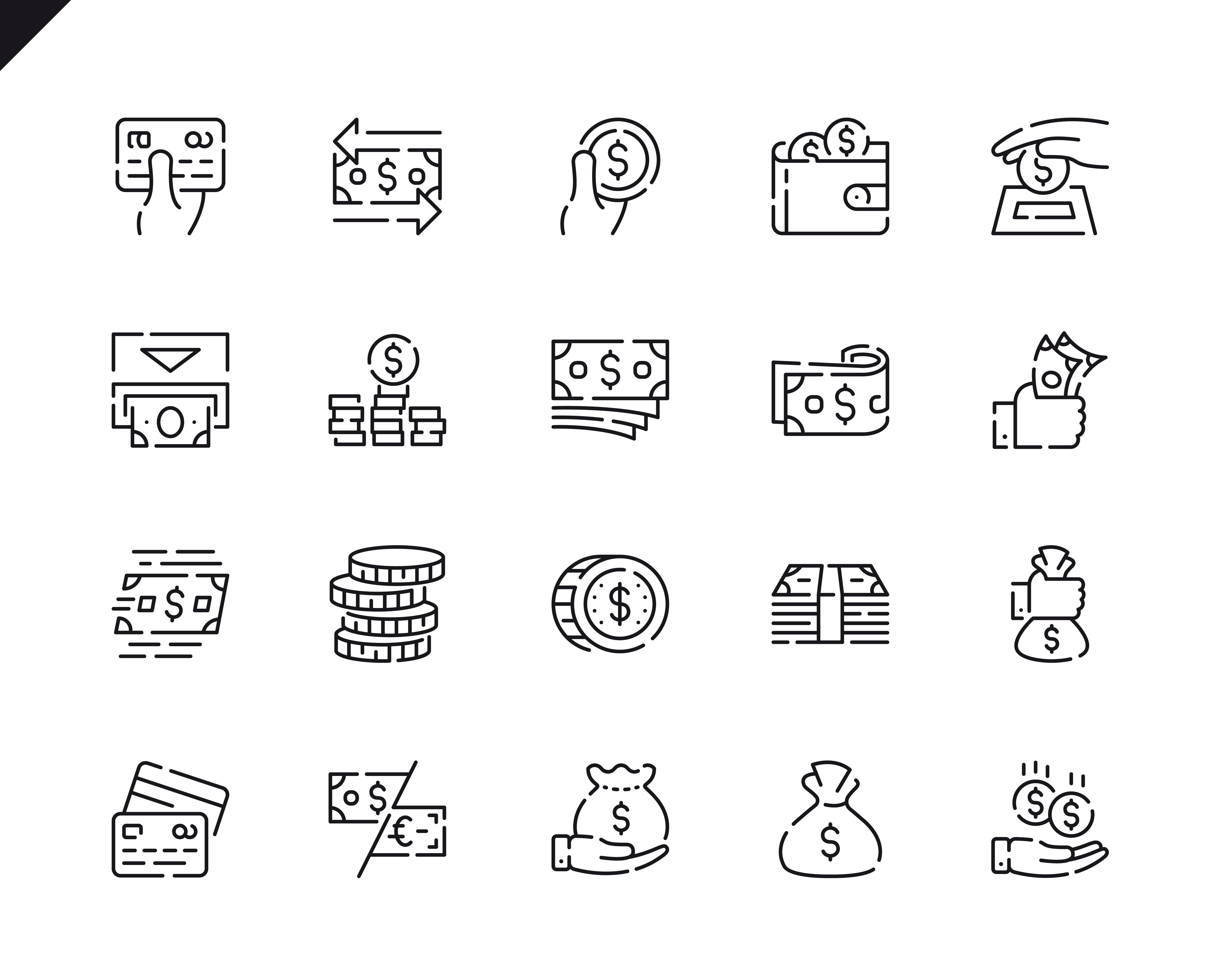 500 Business Line Icons - $22 ONLY - 16 3