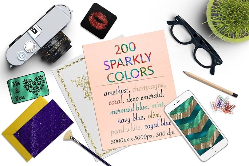 Digital Art Collection - $29 ONLY - 16 Sparkly Colors