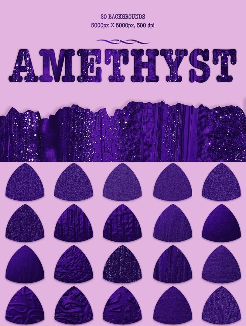 Digital Art Collection - $29 ONLY - 17 Amethyst
