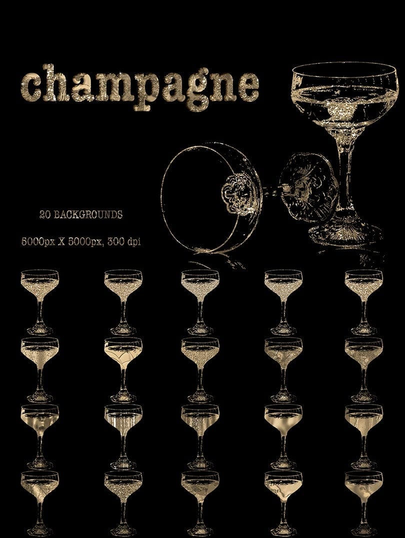 Digital Art Collection - $29 ONLY - 18 Champagne