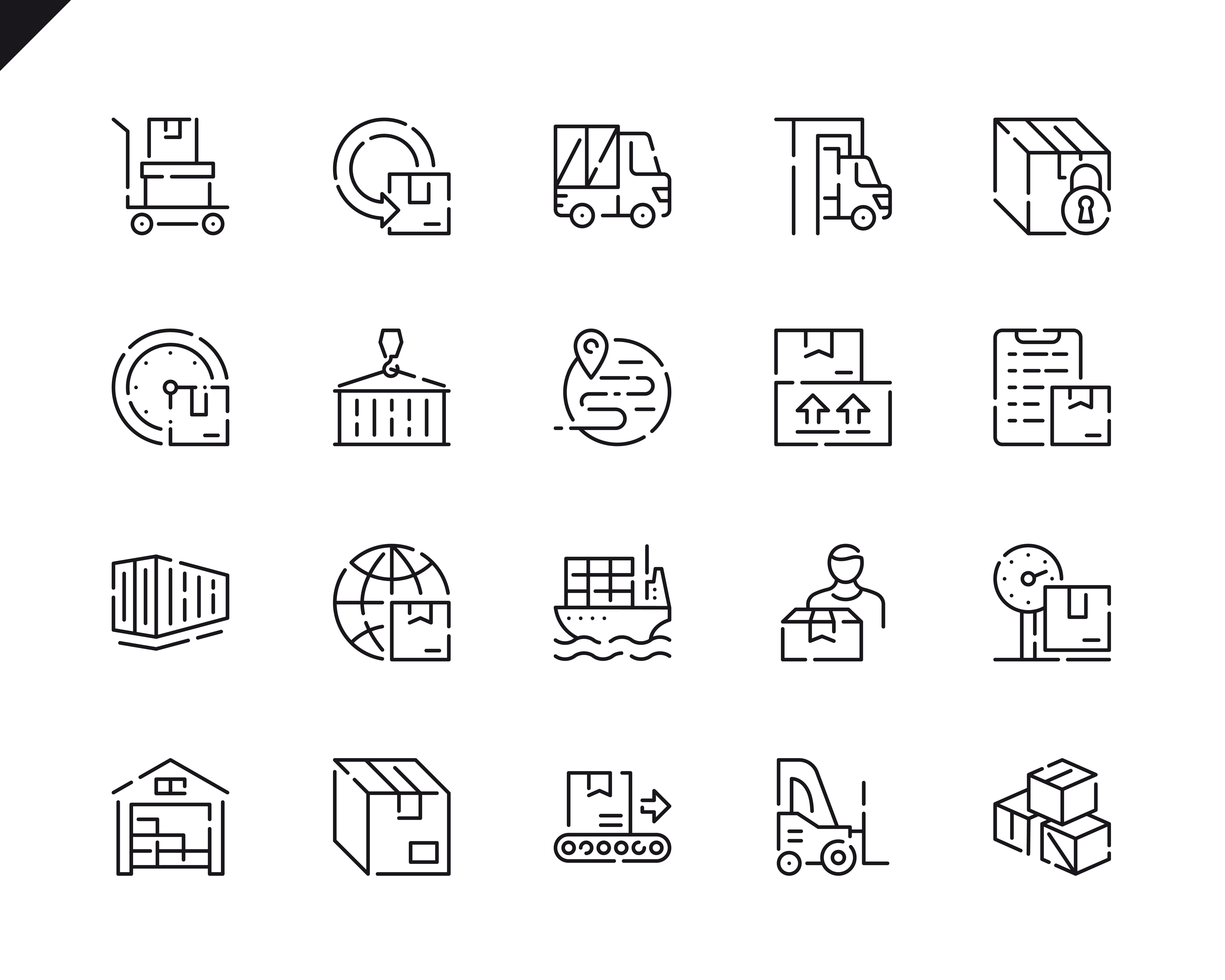 500 Business Line Icons - $22 ONLY - 19 3