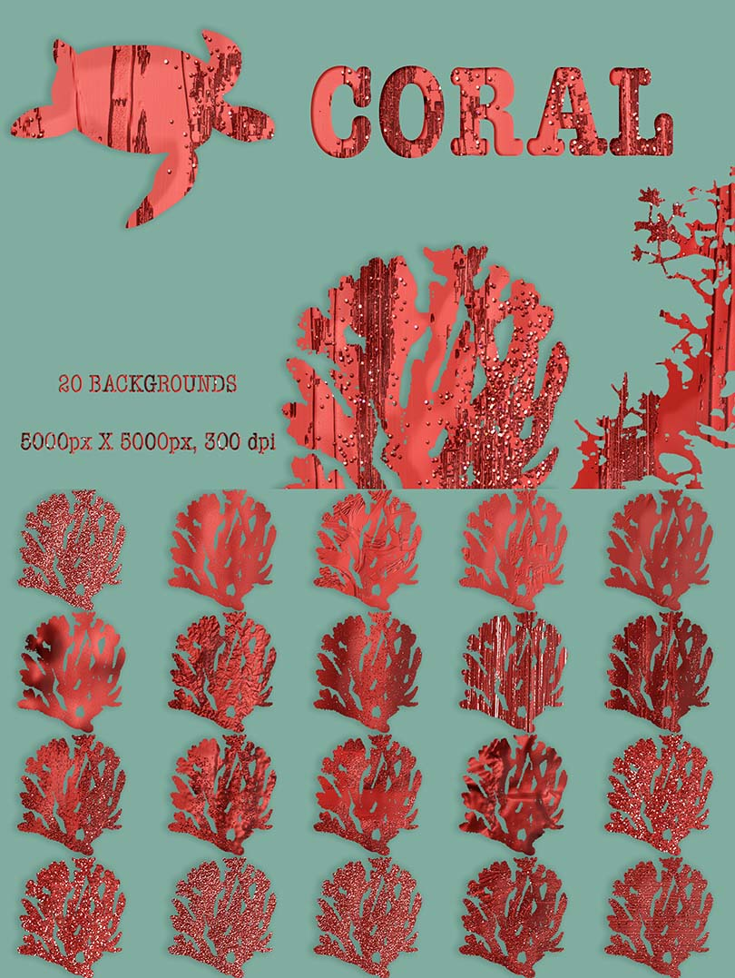 Digital Art Collection - $29 ONLY - 19 Coral