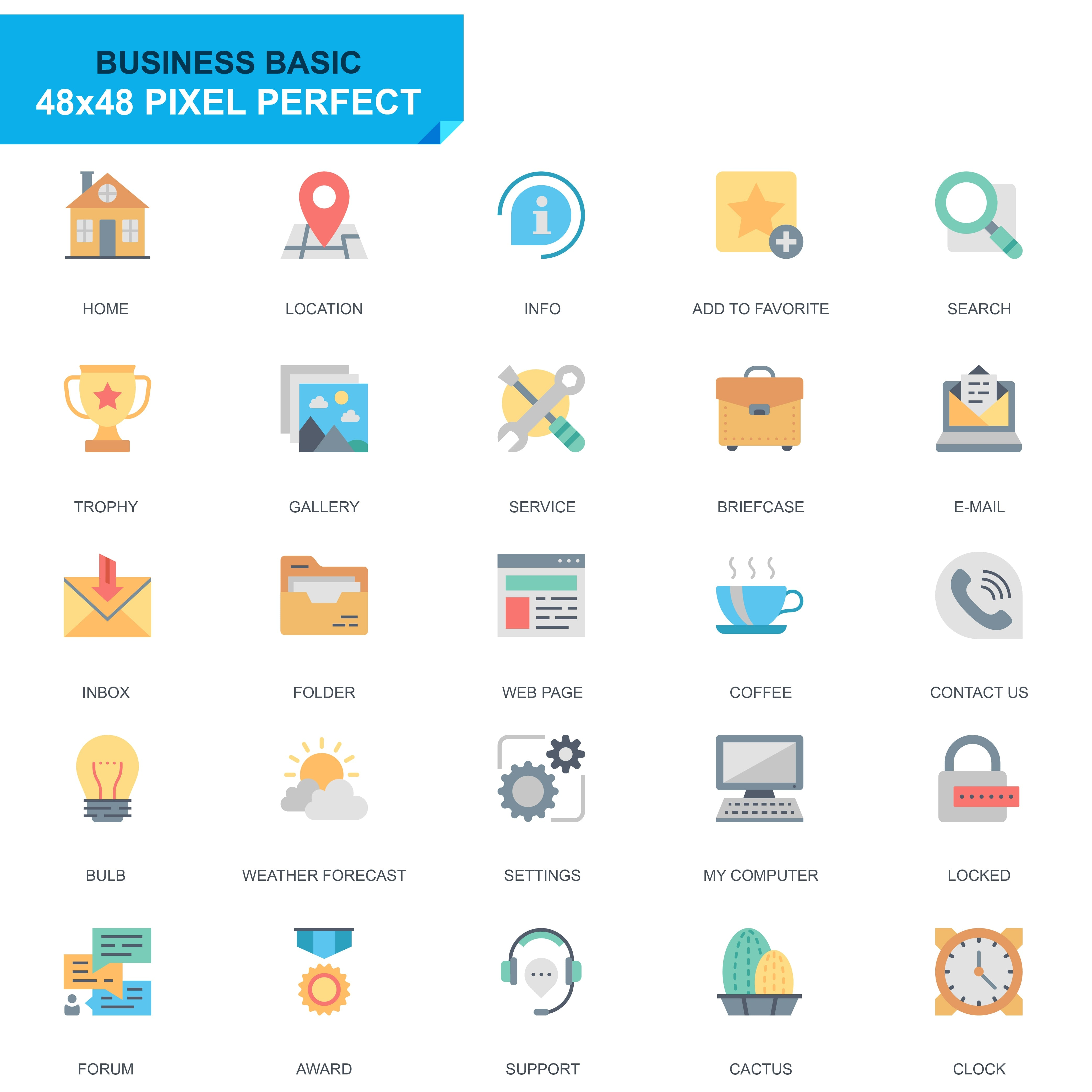 625 Flat Business Icons - just $24 - 2 2