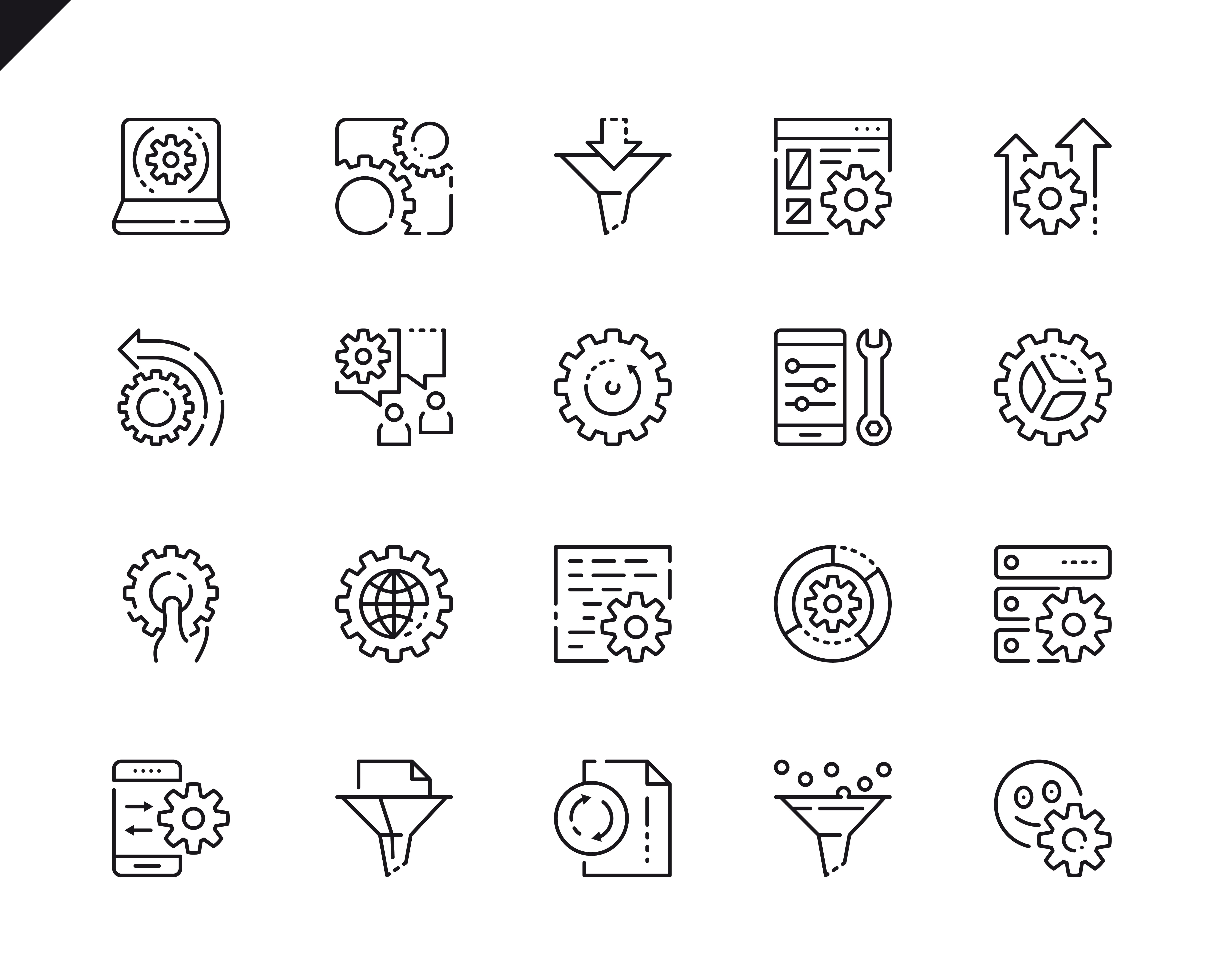 500 Business Line Icons - $22 ONLY - 2 5