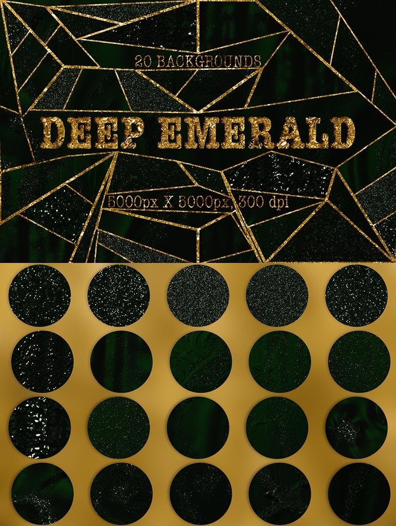 Digital Art Collection - $29 ONLY - 20 Deep Emerald