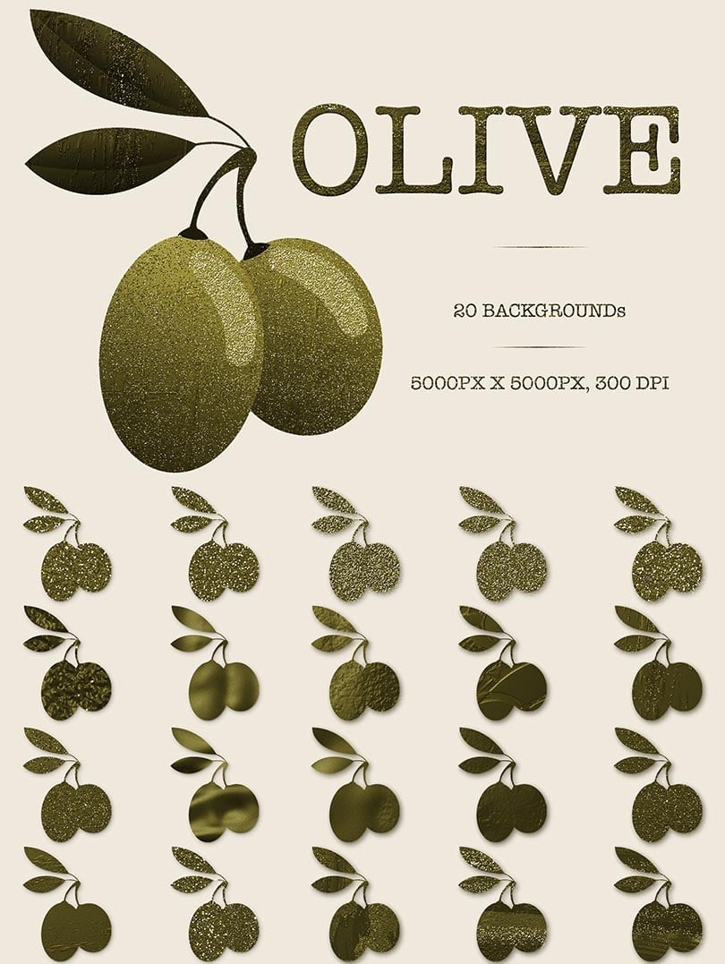 Digital Art Collection - $29 ONLY - 24 Olive
