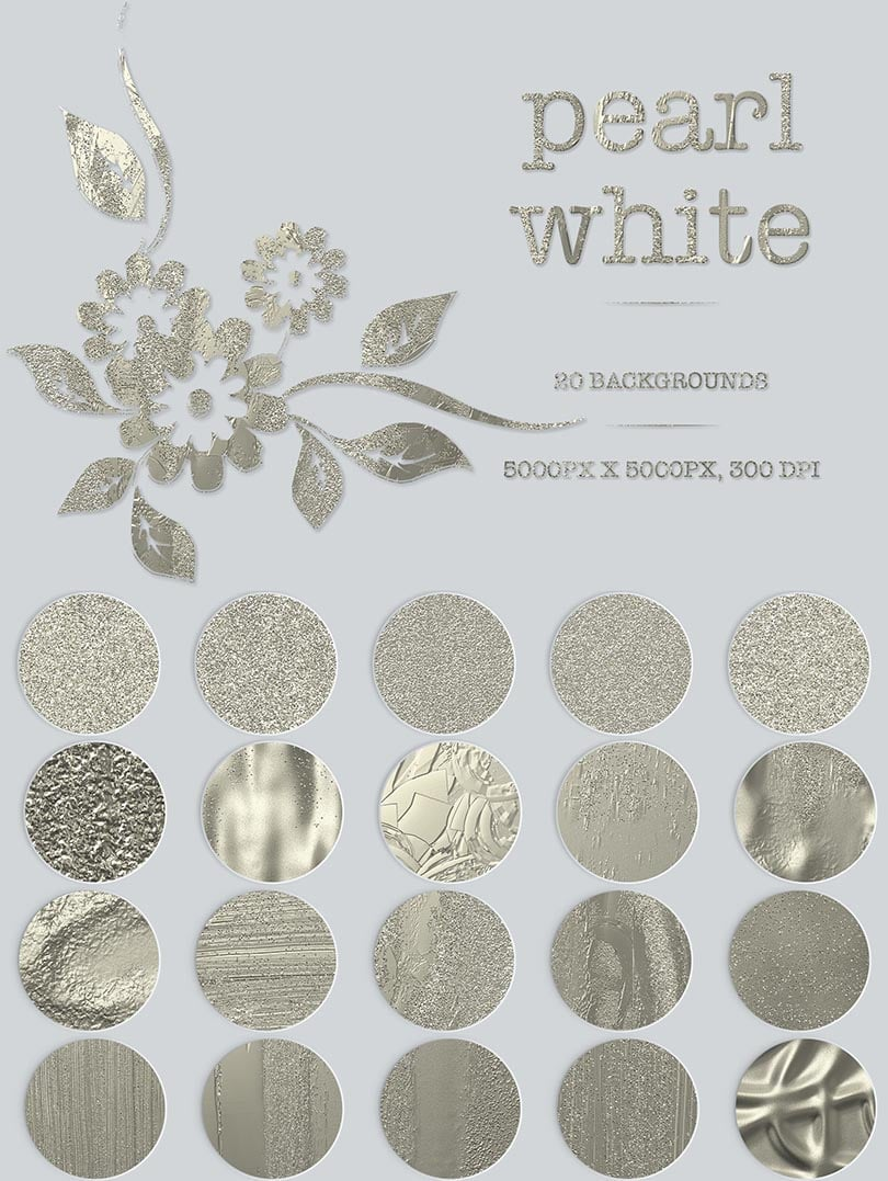 Digital Art Collection - $29 ONLY - 25 Pearl White