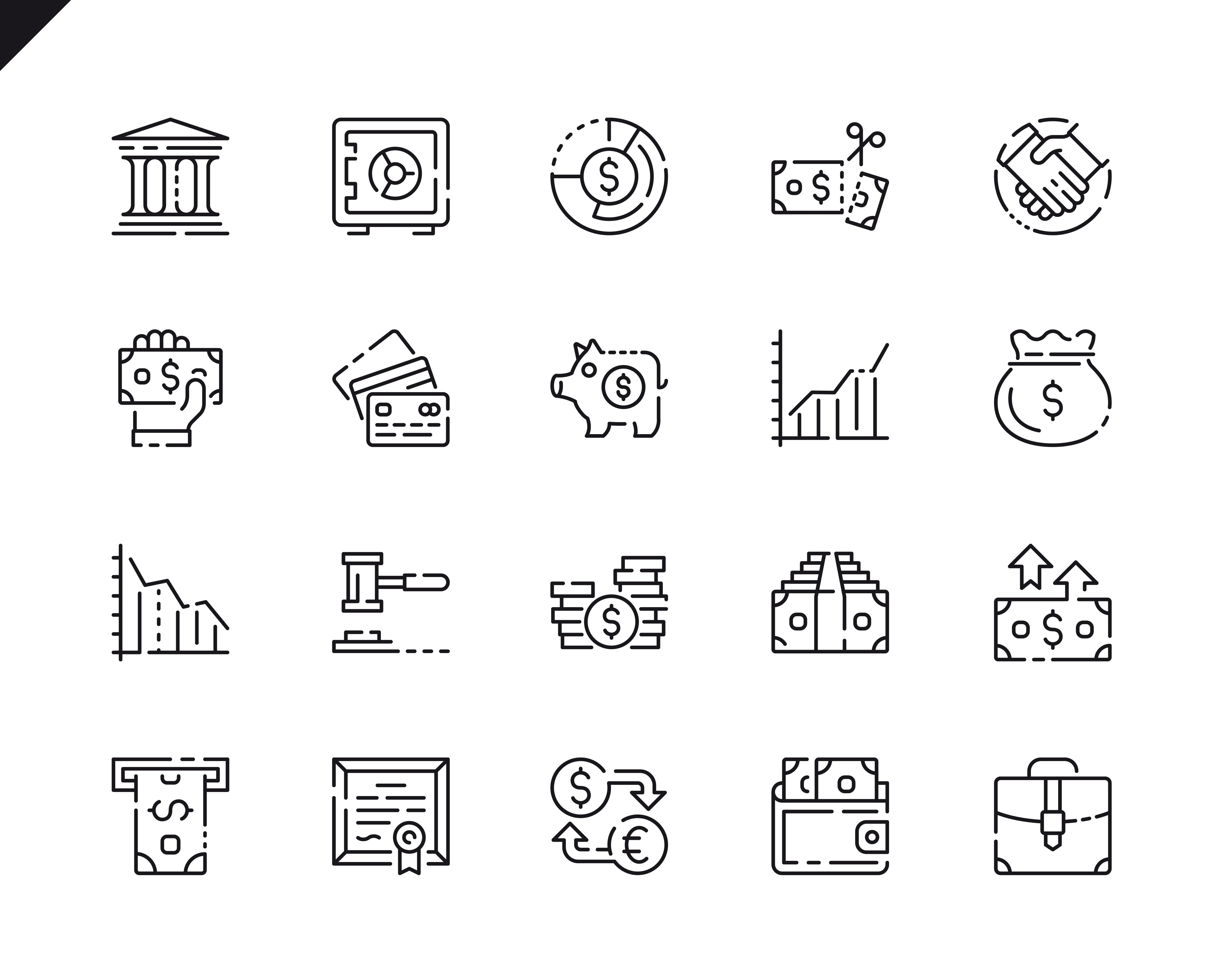 500 Business Line Icons - $22 ONLY - 3 5