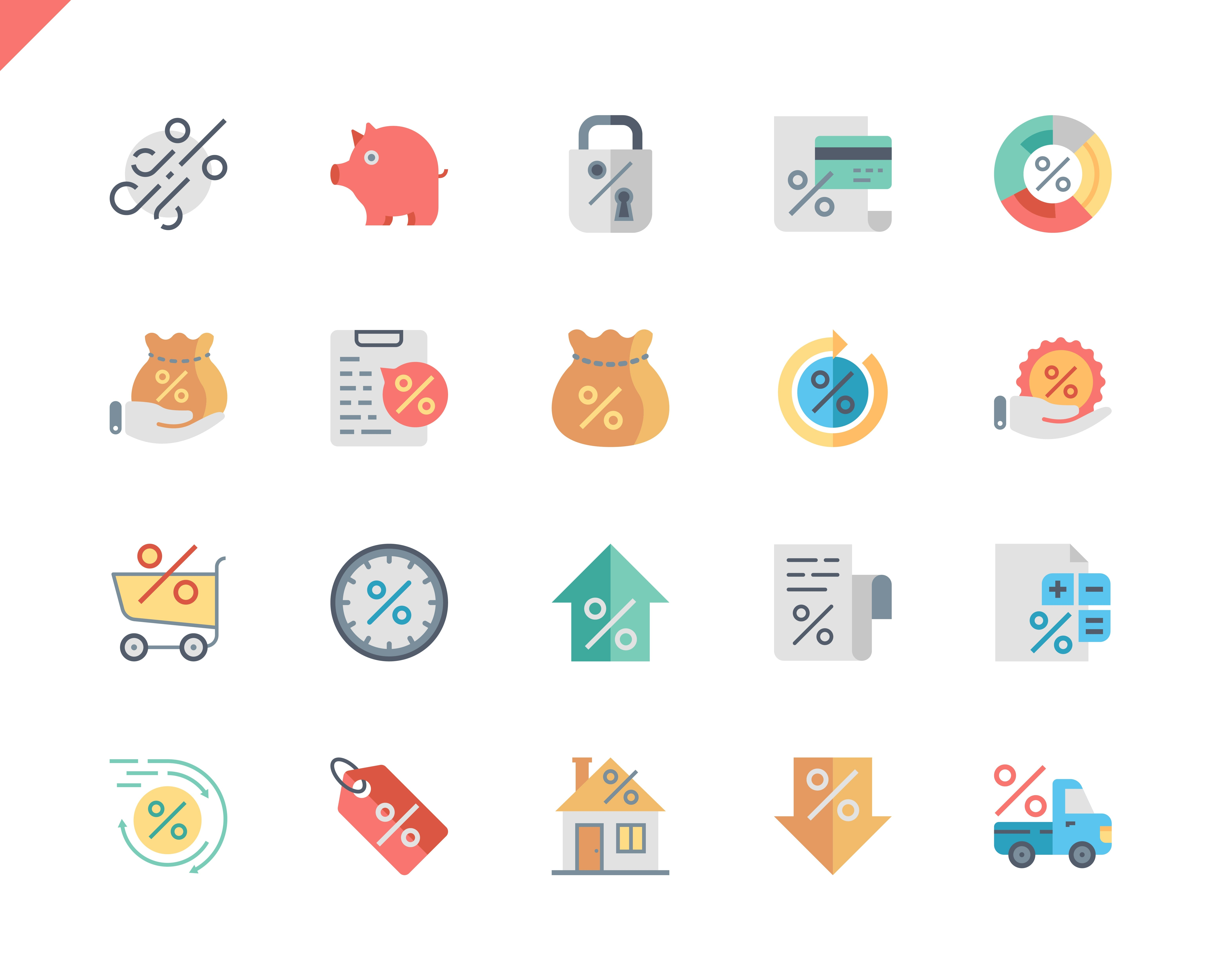 Simple Set Loan Flat Icons for Website and Mobile Apps. Contains such Icons as Investment, Finance, Document, Credit, Shopping. 48x48 Pixel Perfect. Vector illustration.