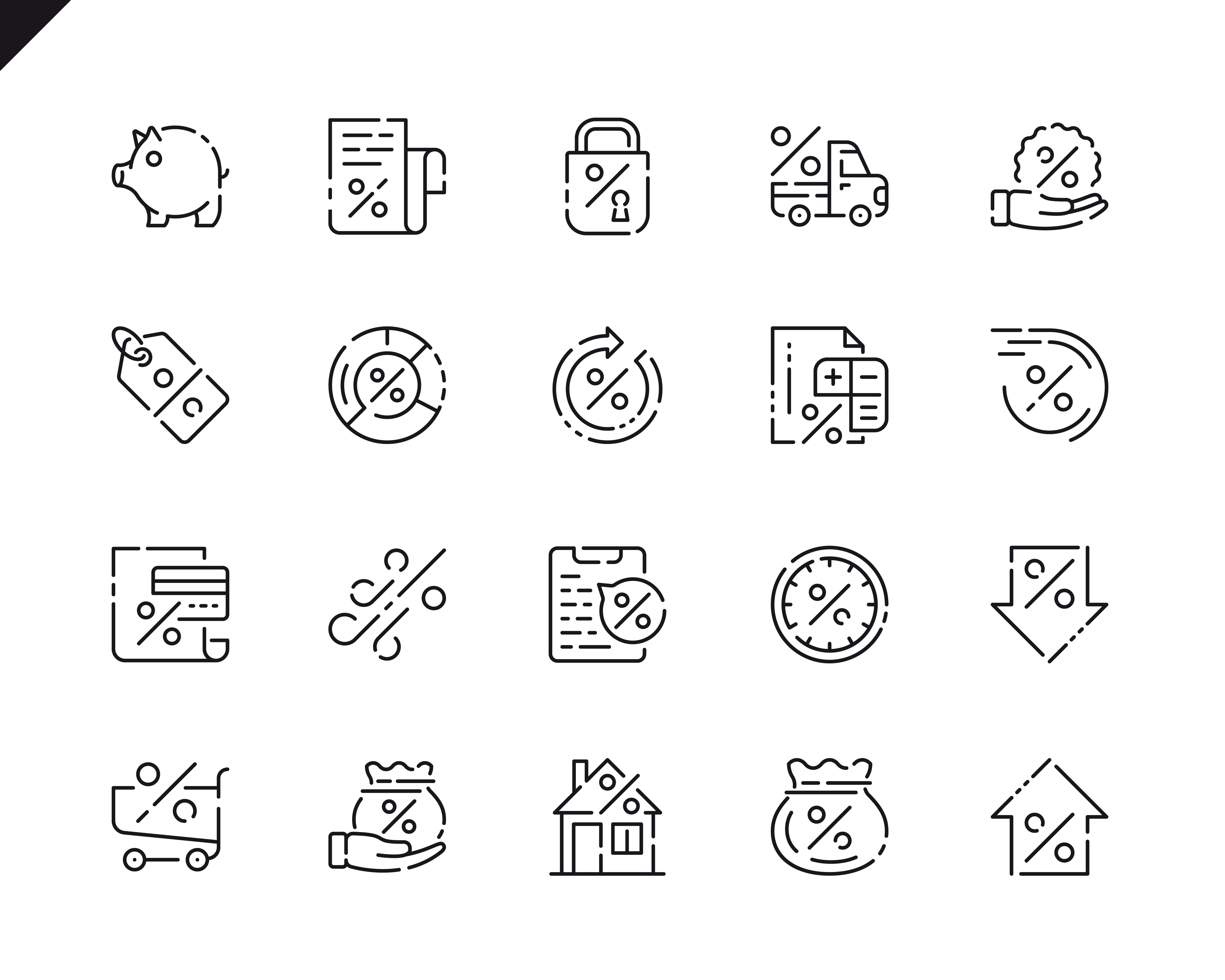 500 Business Line Icons - $22 ONLY - 4 5