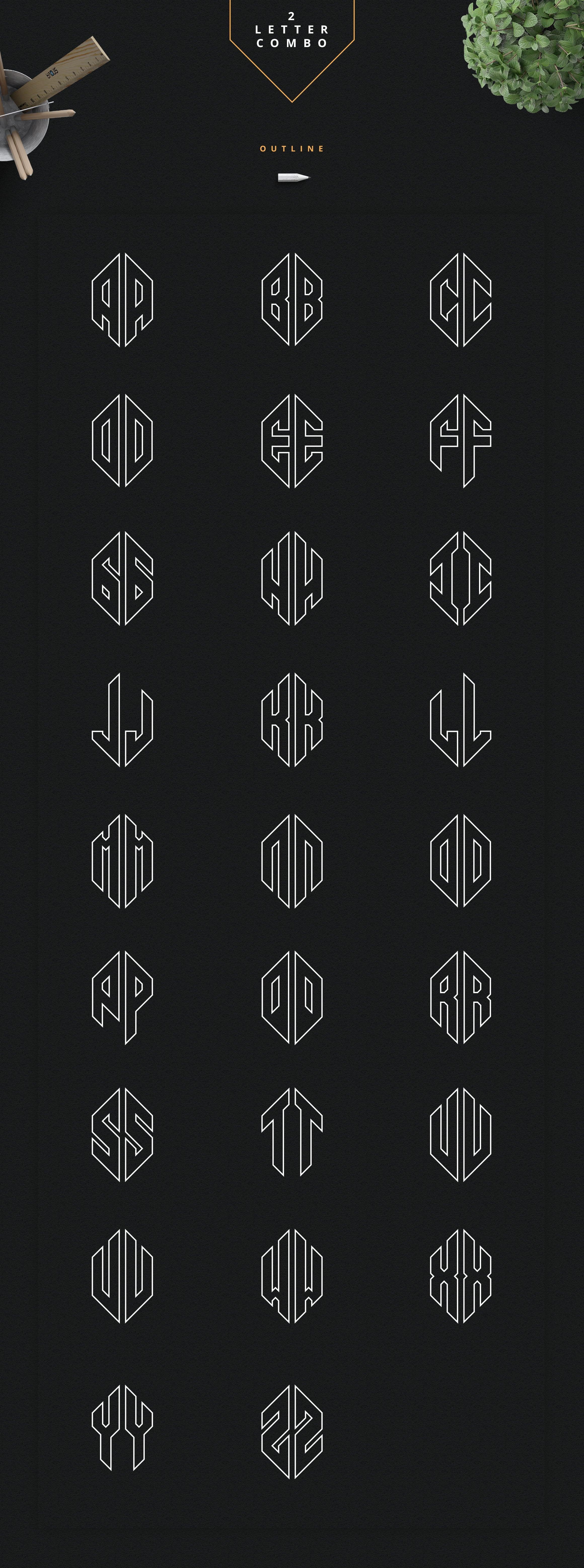 Ultimate Monogram Creator: 6-in-1 - just $14 - 6 3