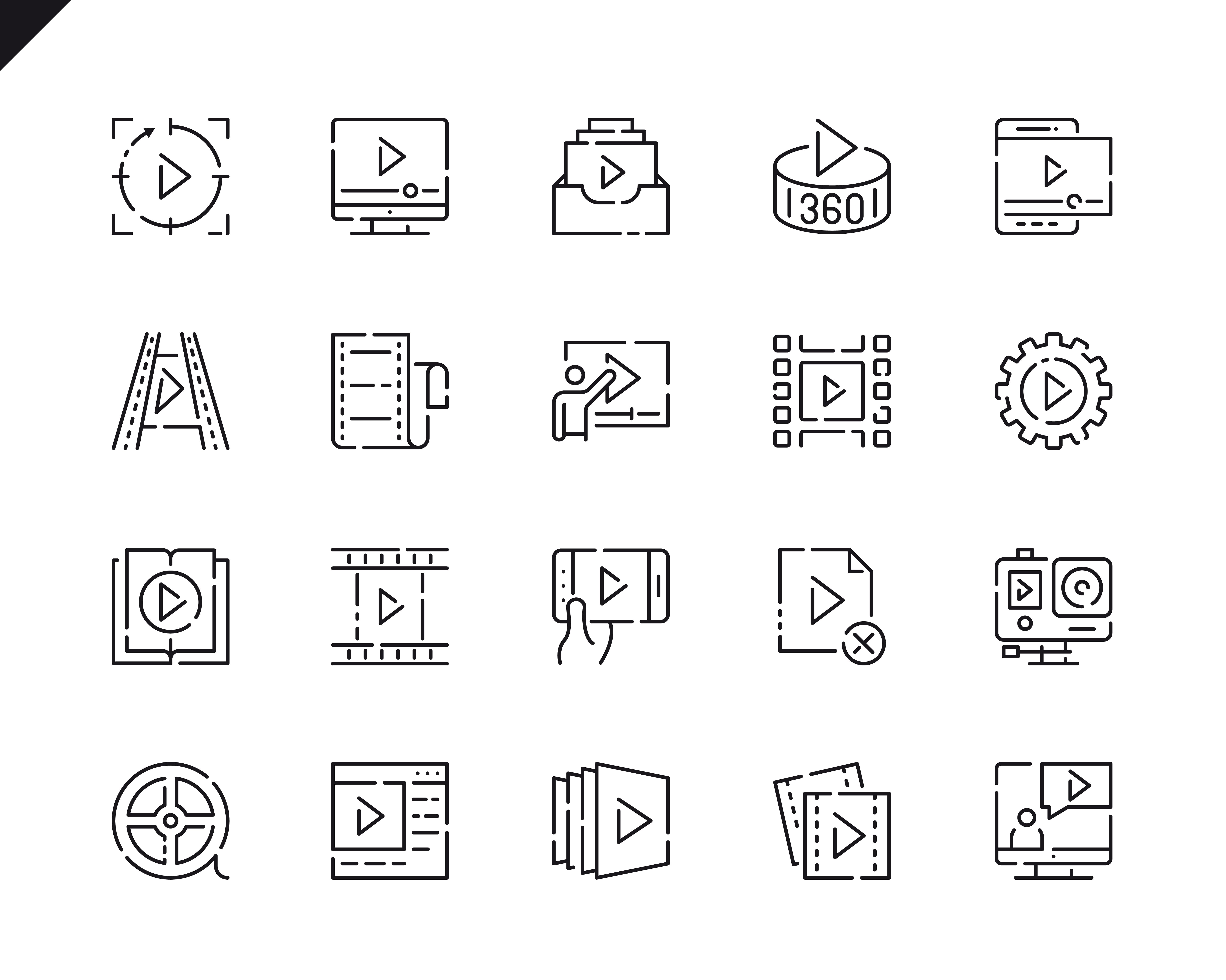 500 Business Line Icons - $22 ONLY - 6 4
