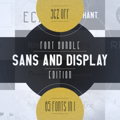 Digital Display Fonts - 85 Sans & Display Fonts Bundle - 600 3 490x490
