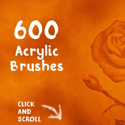 600 FREE Acrylic Brushes - 600P2 490x490
