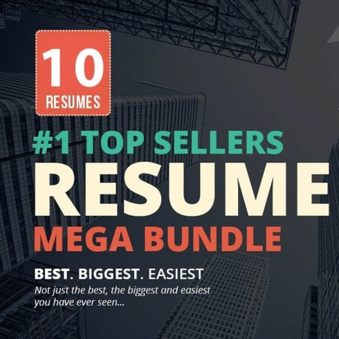 Top Selling Resume/CV Bundle: 10 Templates for $19 ONLY