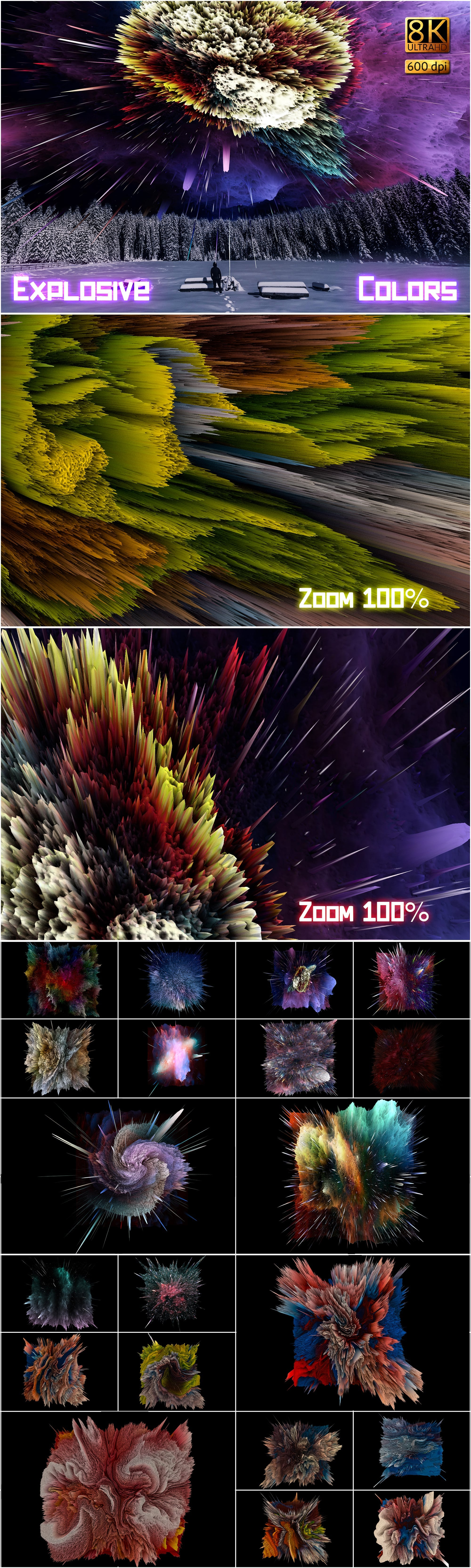 877 Detailed  Alien Overlays - $24 - Explosive Colors