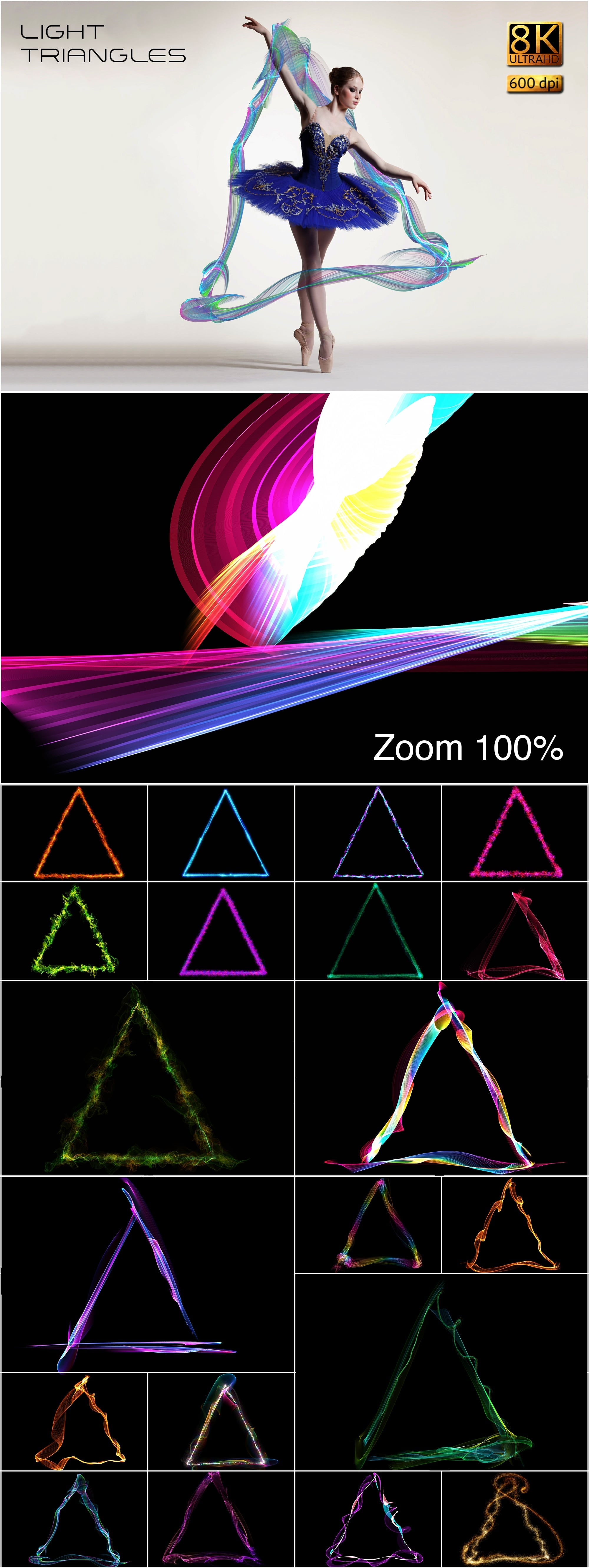 877 Detailed  Alien Overlays - $24 - Light Triangles